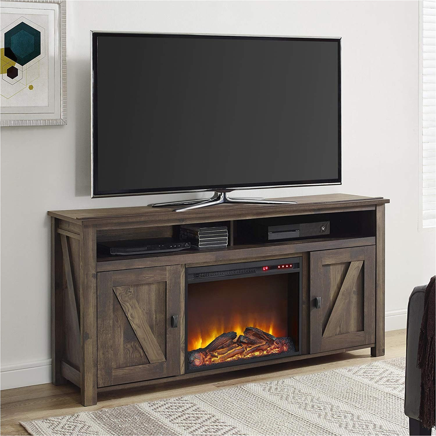 Ember Hearth Electric Fireplace Media Console Costco Costco Media