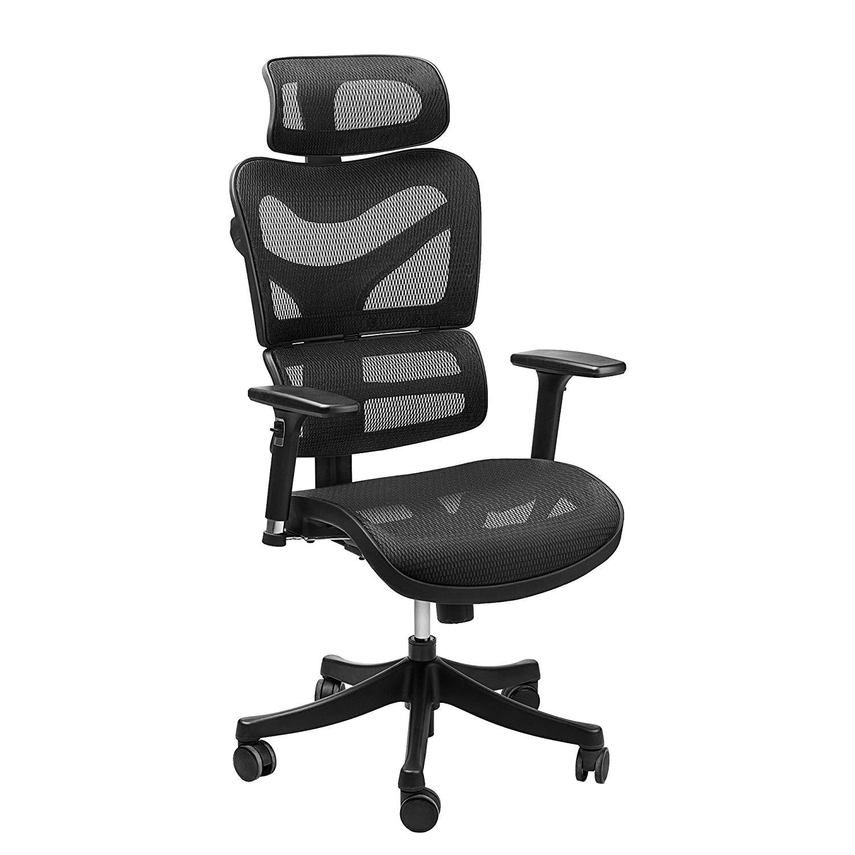 amazon com ergonomic mesh office chair sieges adjustable headrest 3d flip up arms back lumbar support high back computer desk task executive chair