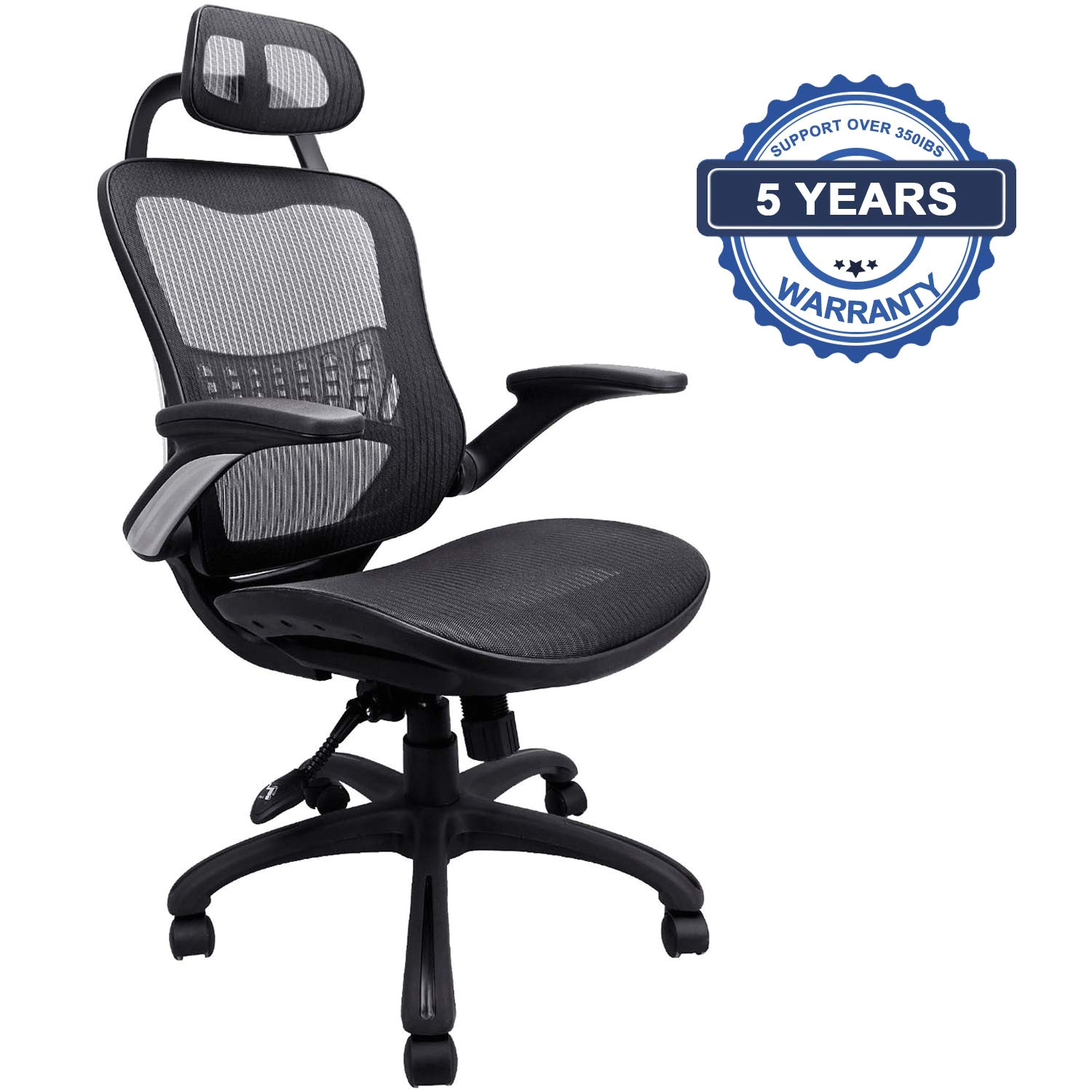 komene ergonomic office chair weight capacity over 350ibs unique breathable mesh cushion high back executive chairs with adjustable headrest backrest