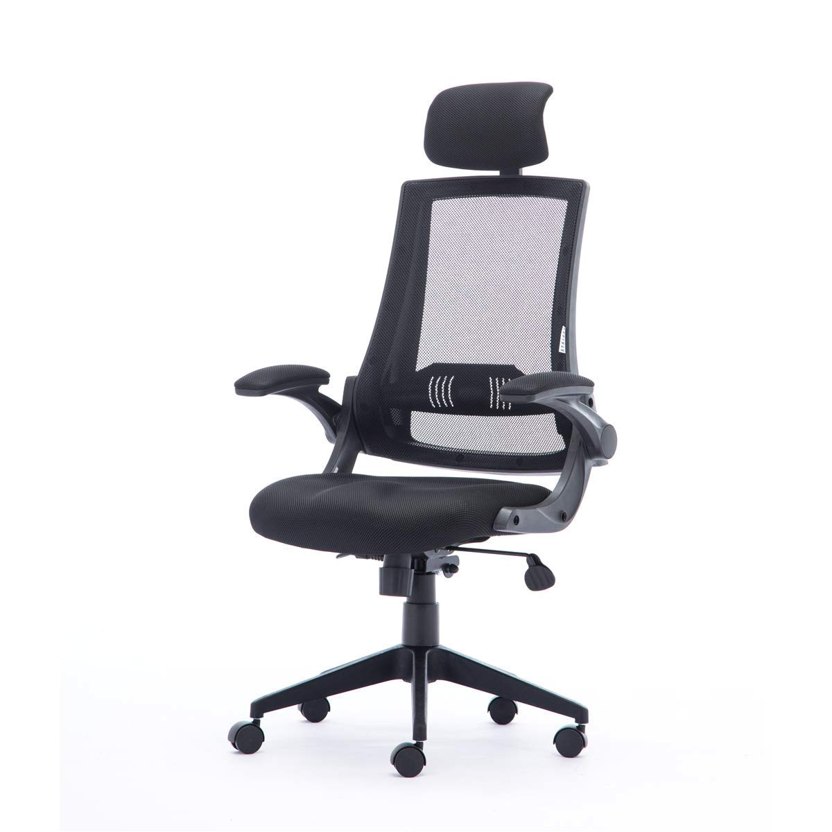 amazon com worpson high back ergonomic mesh office chair mesh seat computer desk chair with adjustable headrest flip up armrests and lumbar support