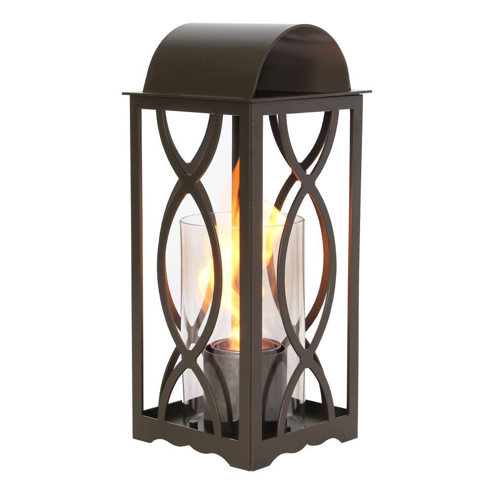 terra flame augusta 20 in lantern in bronze small size