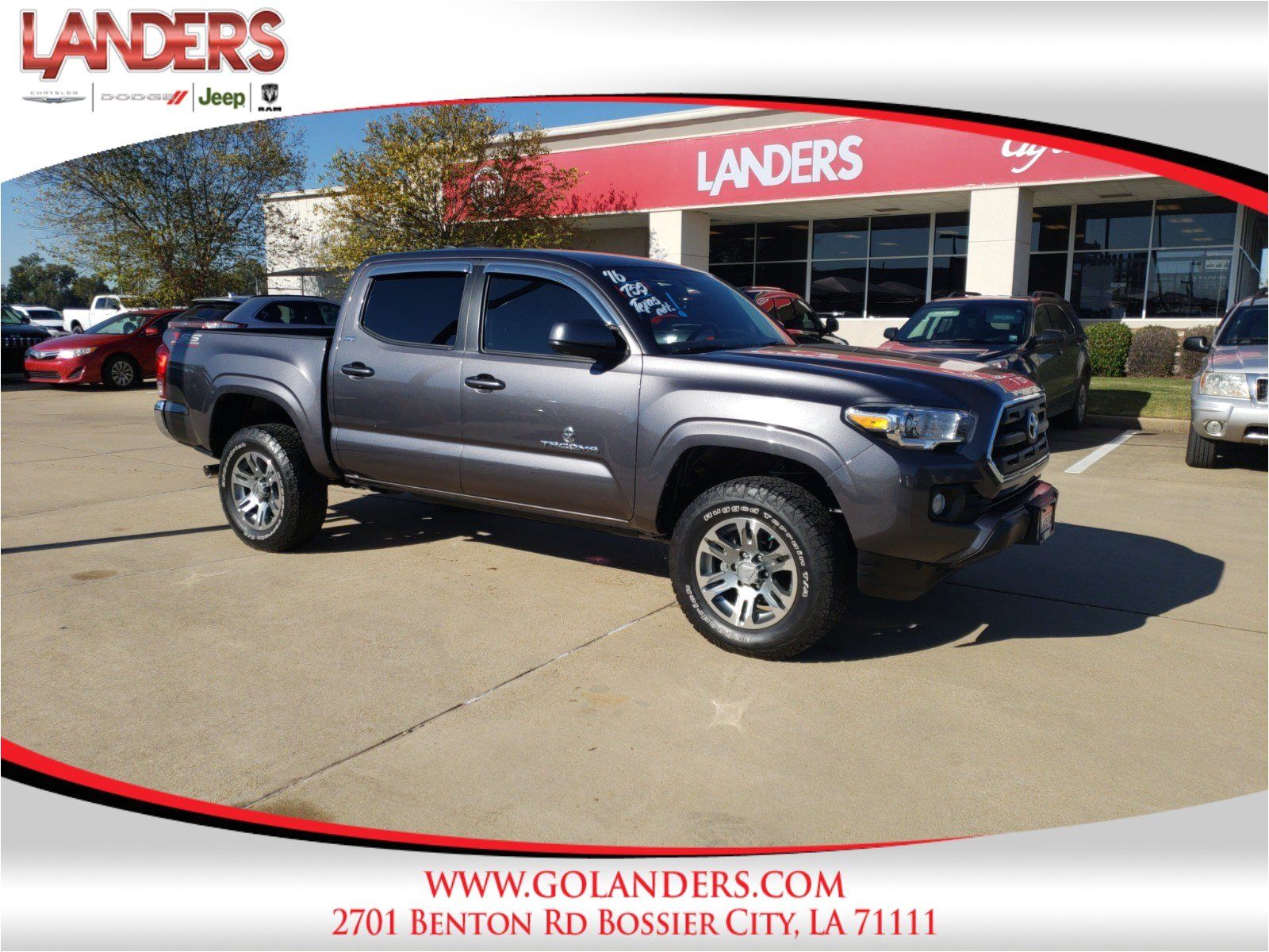 Fabric Stores In Shreveport Bossier City La Pre Owned 2016 toyota Tacoma Trd Off Road Crew Cab Pickup In Bossier