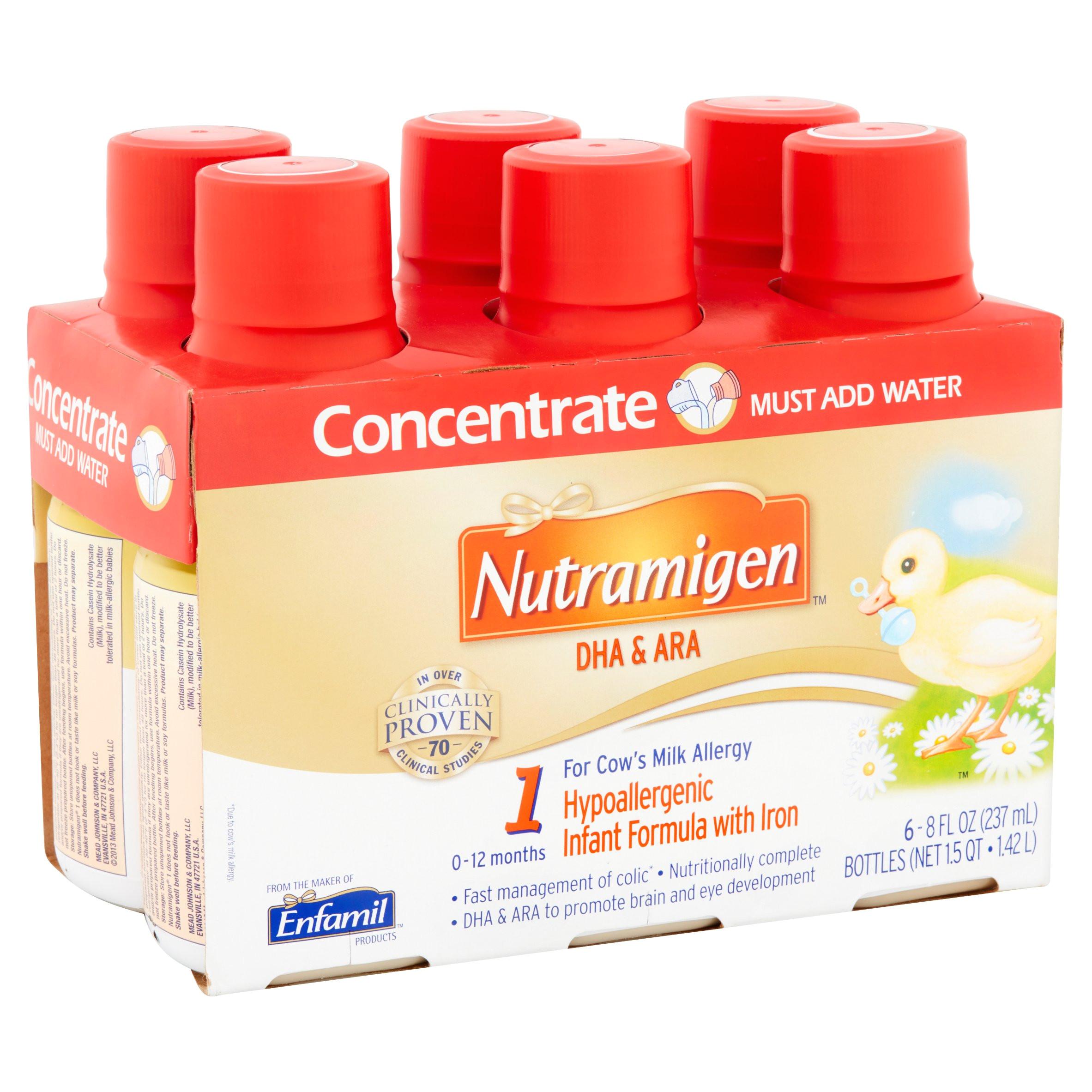 nutramigen 1 dha ara hypoallergenic infant formula with iron 0 12 months 8 fl oz 24 pack walmart com