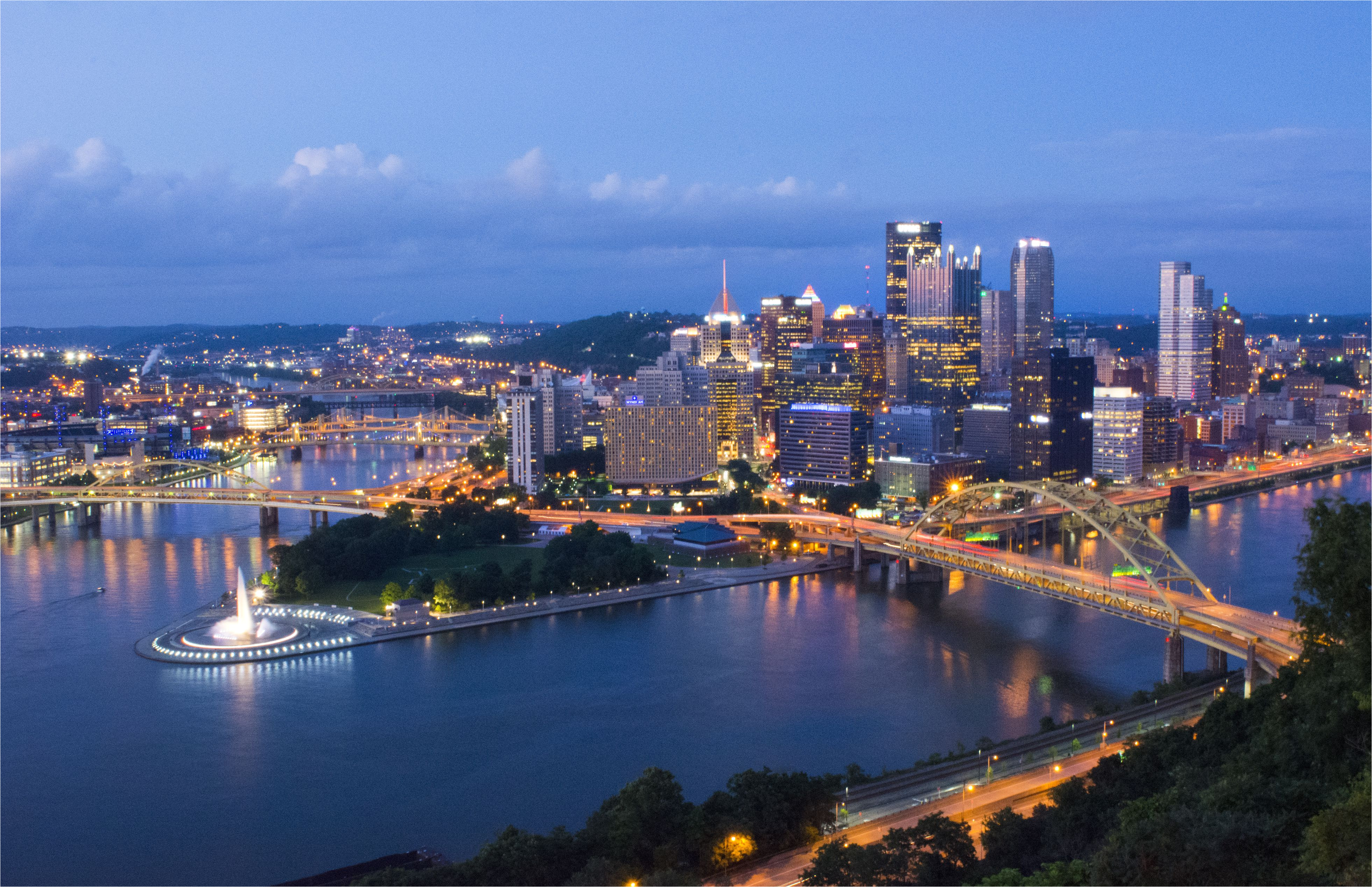 pittsburgh pennsylvania skyline from mt washington