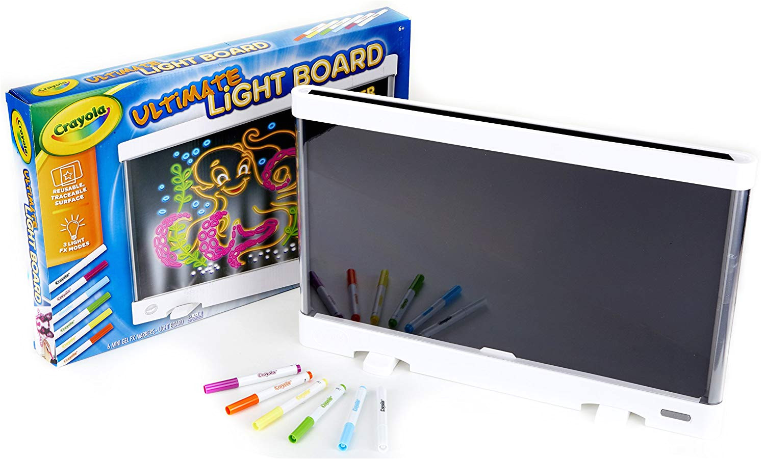crayola ultimate light board drawing tablet gift for kids age 6 7 8 9 markers amazon canada