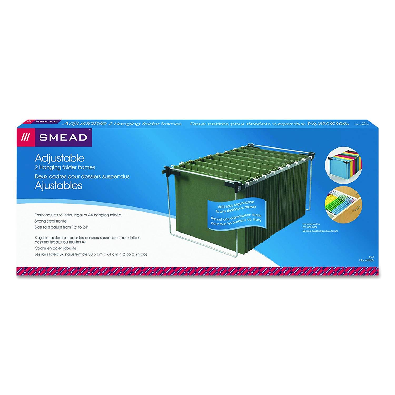 smead hanging file folder frame adjustable letter legal a4 2 pack 64855 amazon co uk office products