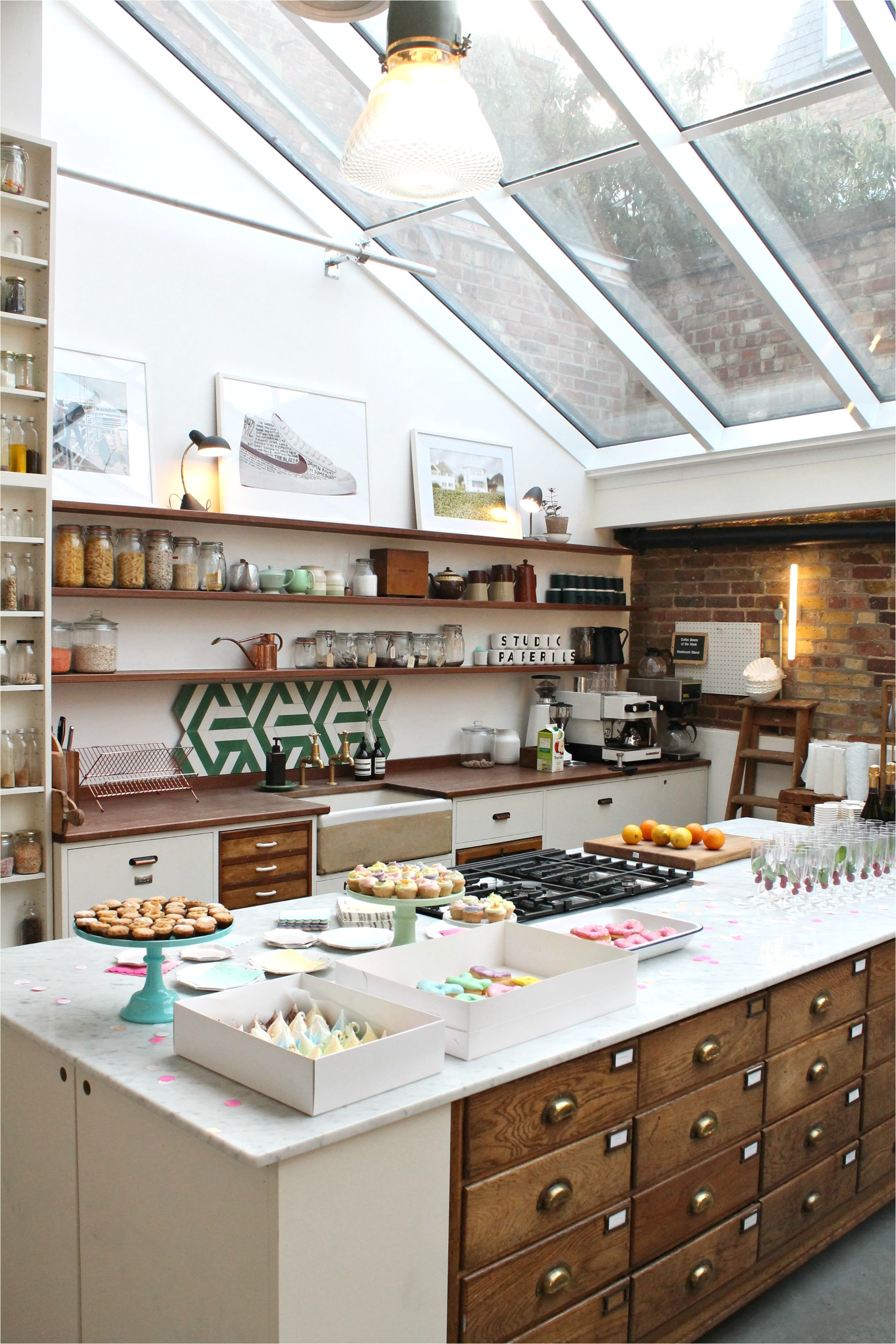 vintage style kitchen where jamie oliver cooks papermill studios