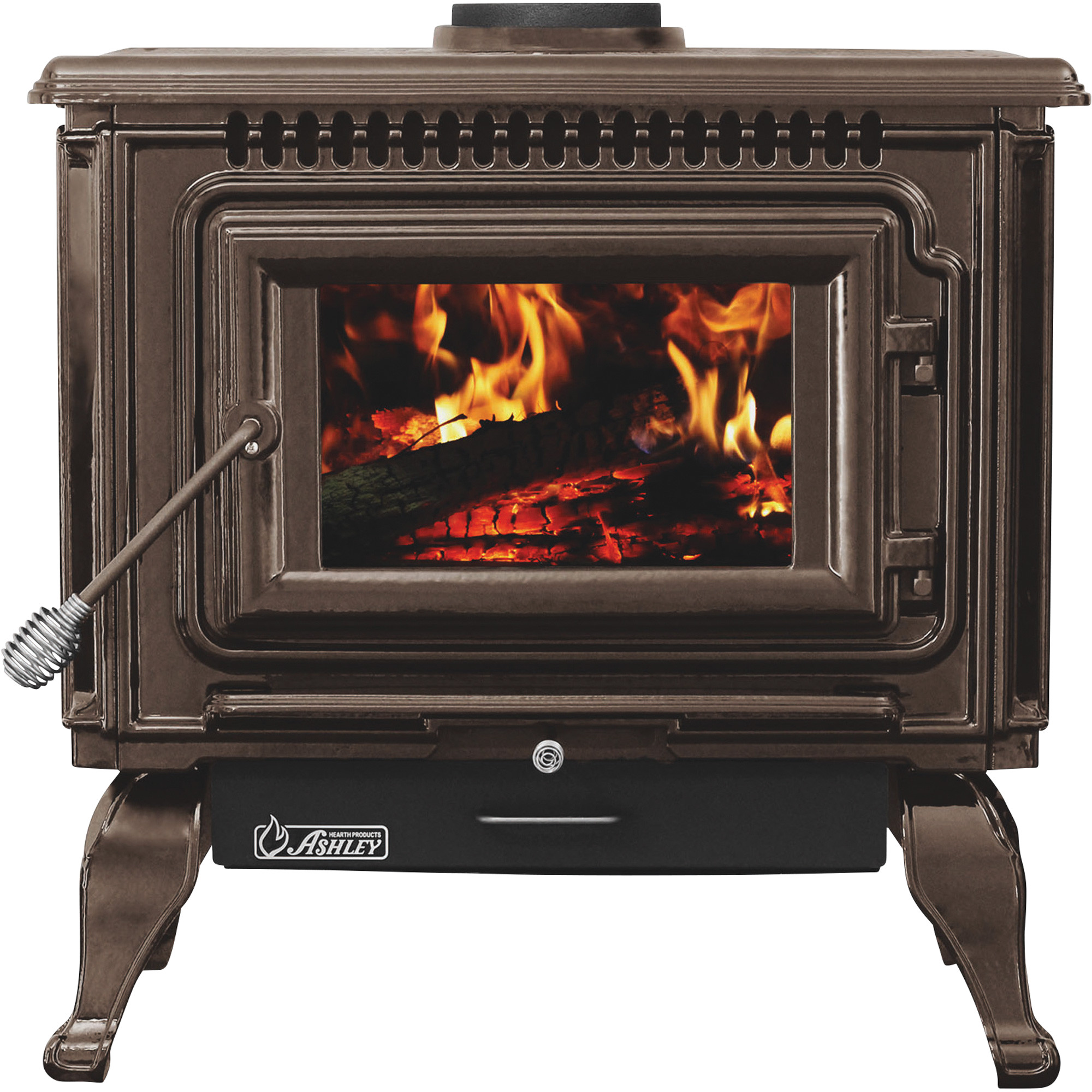 ashley hearth products xl porcelain enamel wood stove