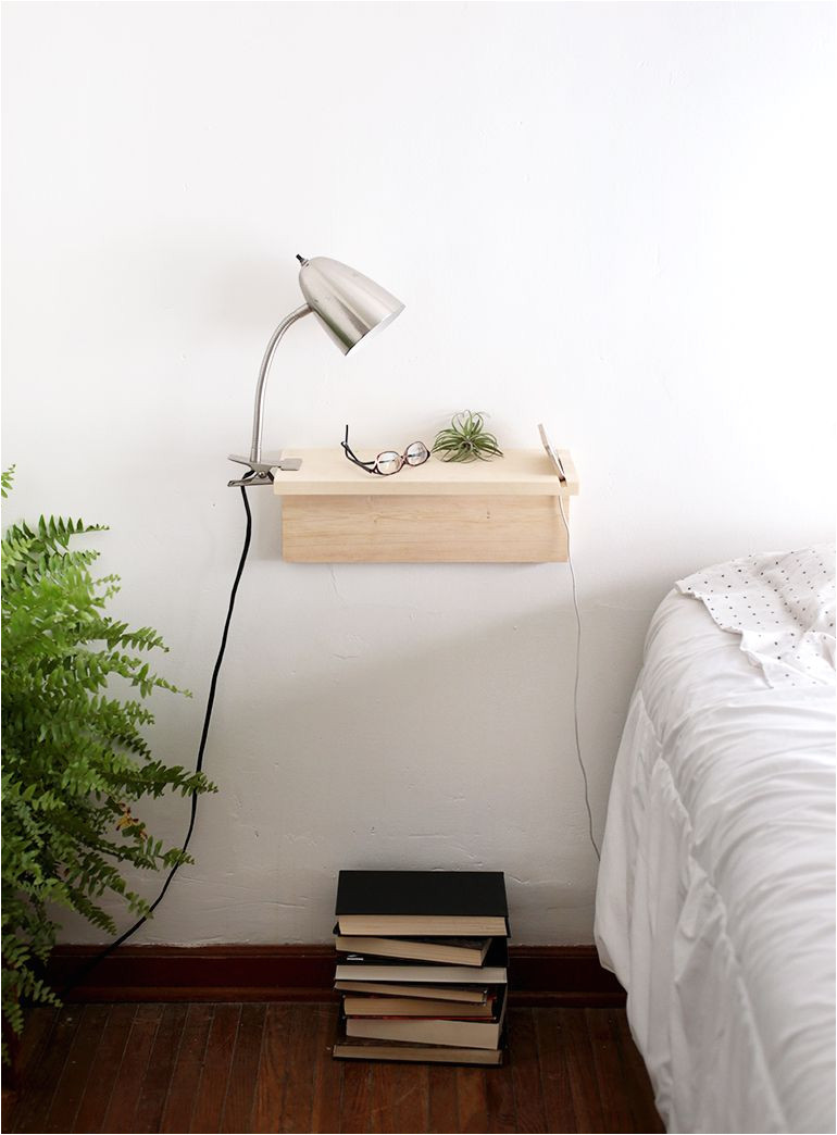 genius space saving projects for small spots tight corners floating nightstand diy nightstand
