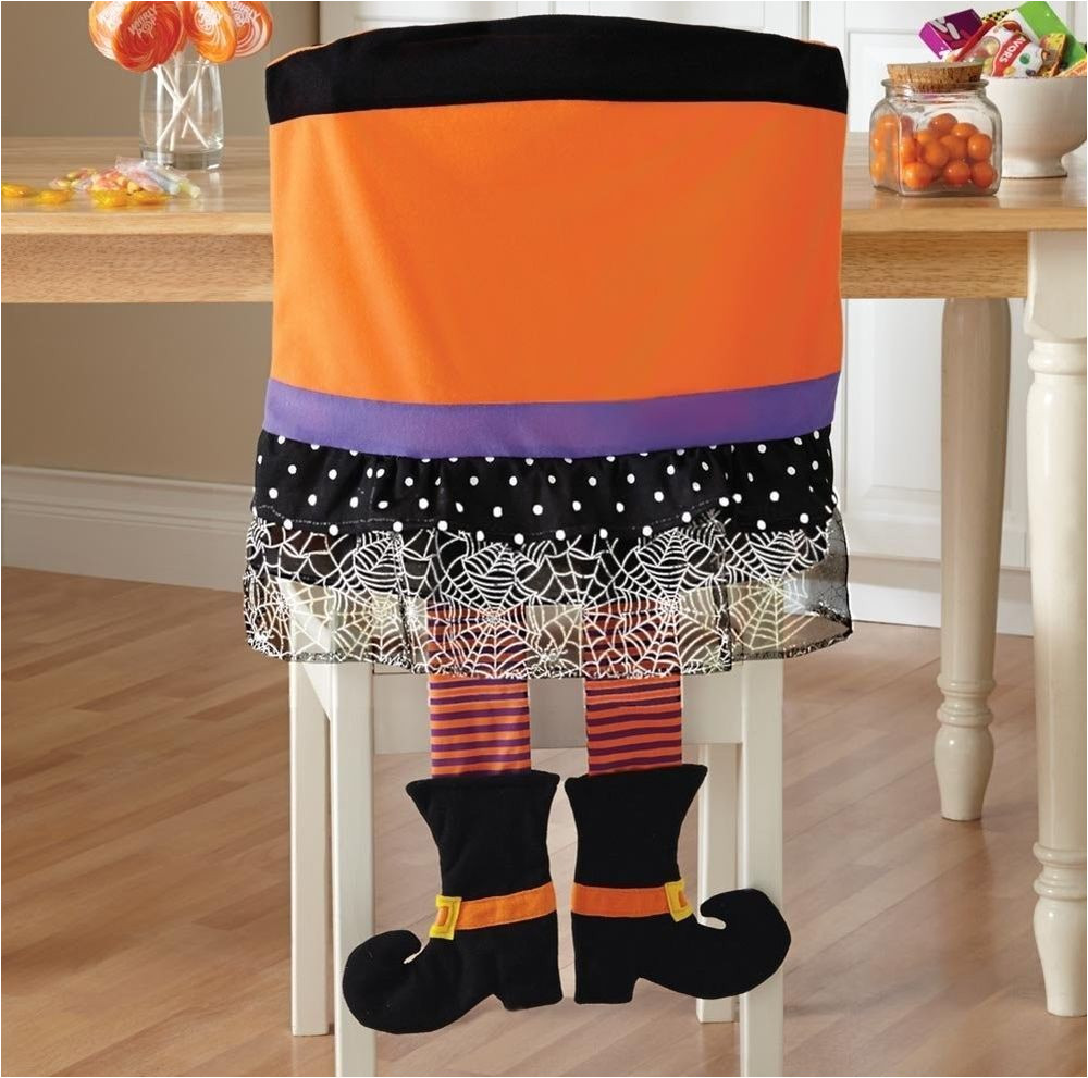 wicked witch s legs halloween chair cover kitchen decor holiday decor set of 2