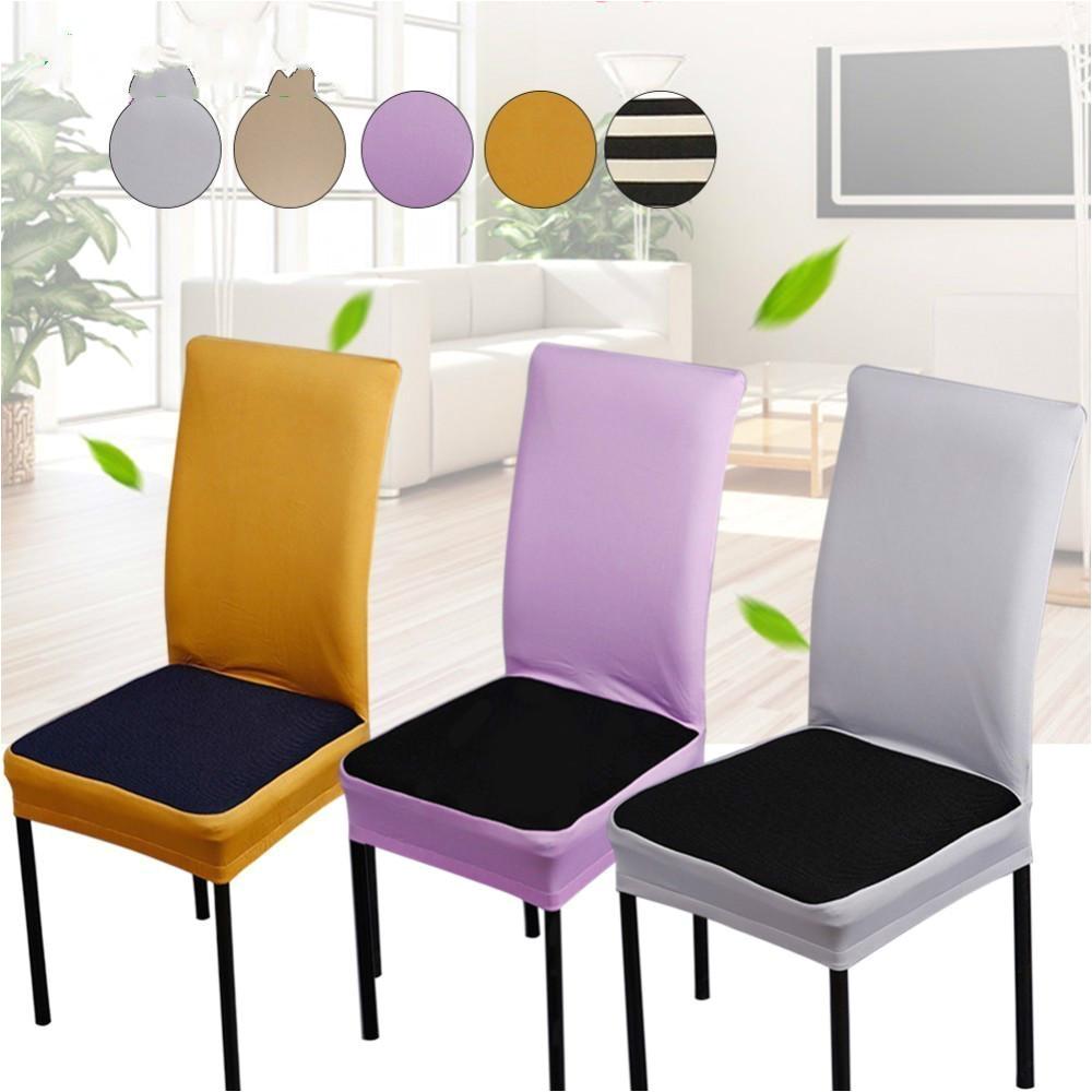 compre spandex stretch silla de comedor cubierta de la maquina lavable para restaurante bodas banquete hotel silla cubierta fundas de sillas elasticas a