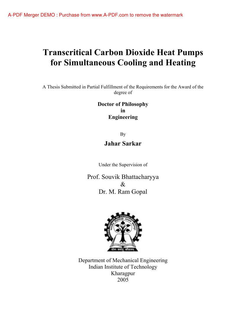 pdf transcritical carbon dioxide based heat pumps for simultaneous cooling and heating applications