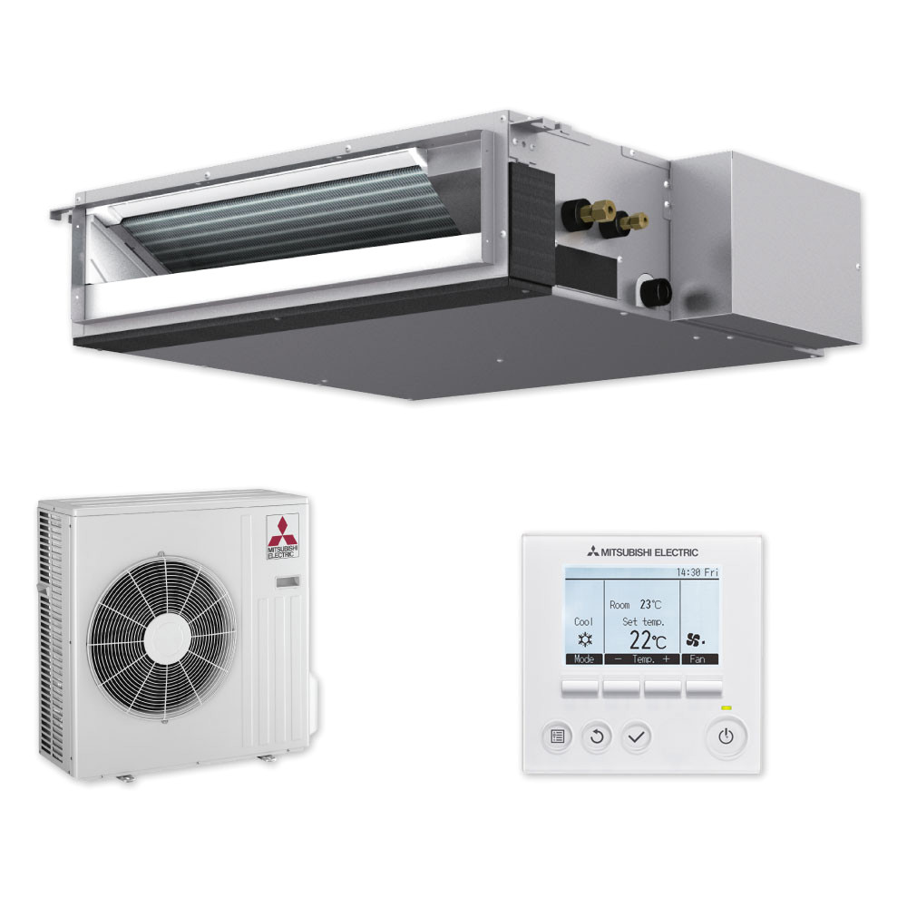 Freedom Heating and Cooling Sez Kd50vaq Concealed Sez50 Heat Pump Mitsubishi Electric