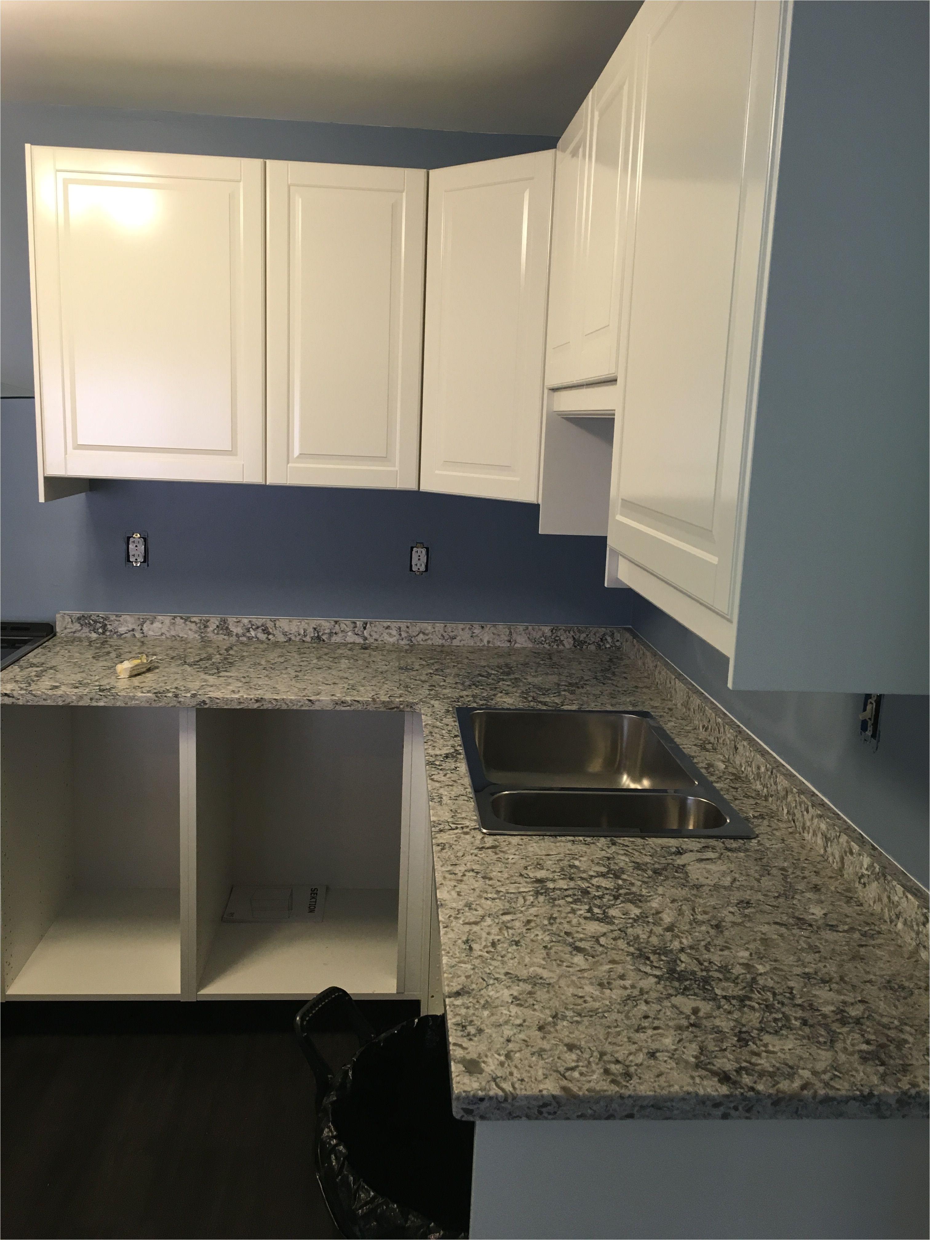 Fridge Stove Sink Combo Ikea Ikea Bodbyn Off White Cabinets with Himalayan Moon Quartz Kitchen