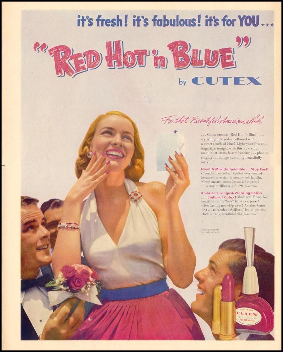 cutex nail polish 1952 vintage makeup ads vintage nails vintage beauty