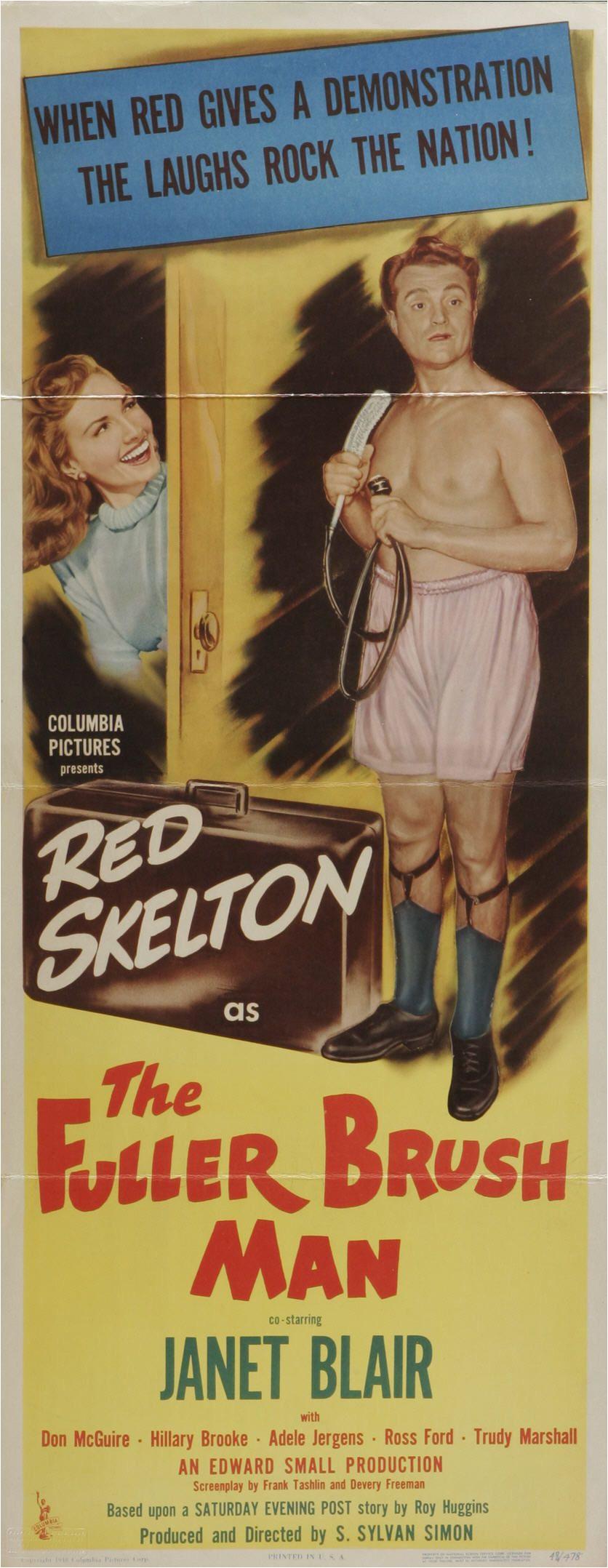 the fuller brush man 1948 stars red skelton janet blair don mcguire hillary brooke adele jergens donald curtis director s sylvan simon
