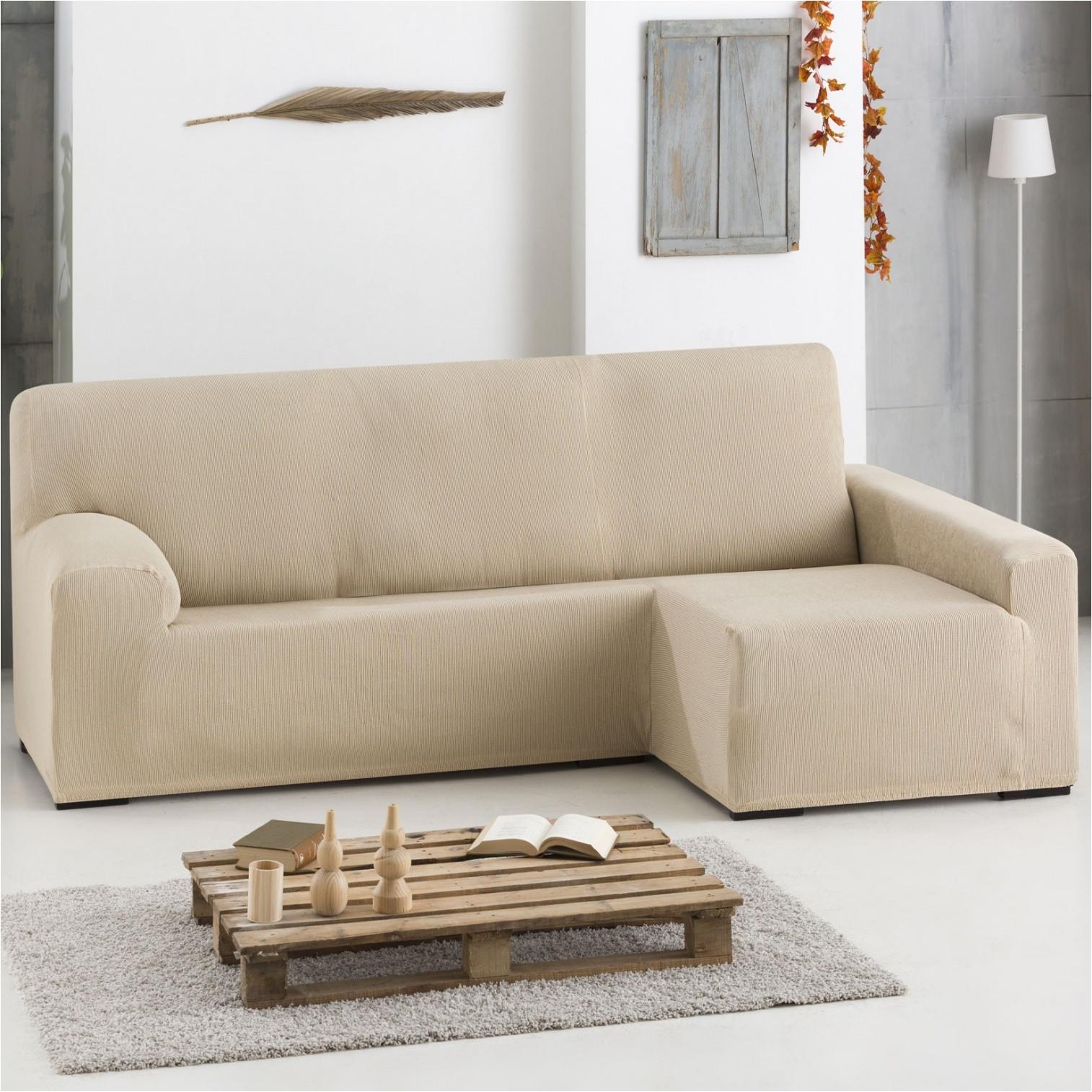 awesome funda de sof bielstica chaise longue ulises beig with fundas ajustables para sofas