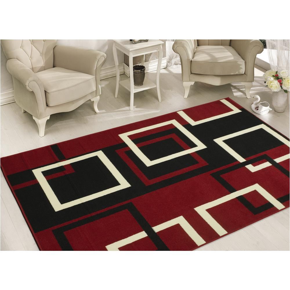 this review is from clifton collection modern boxes design dark red 8 ft x 10 ft area rug