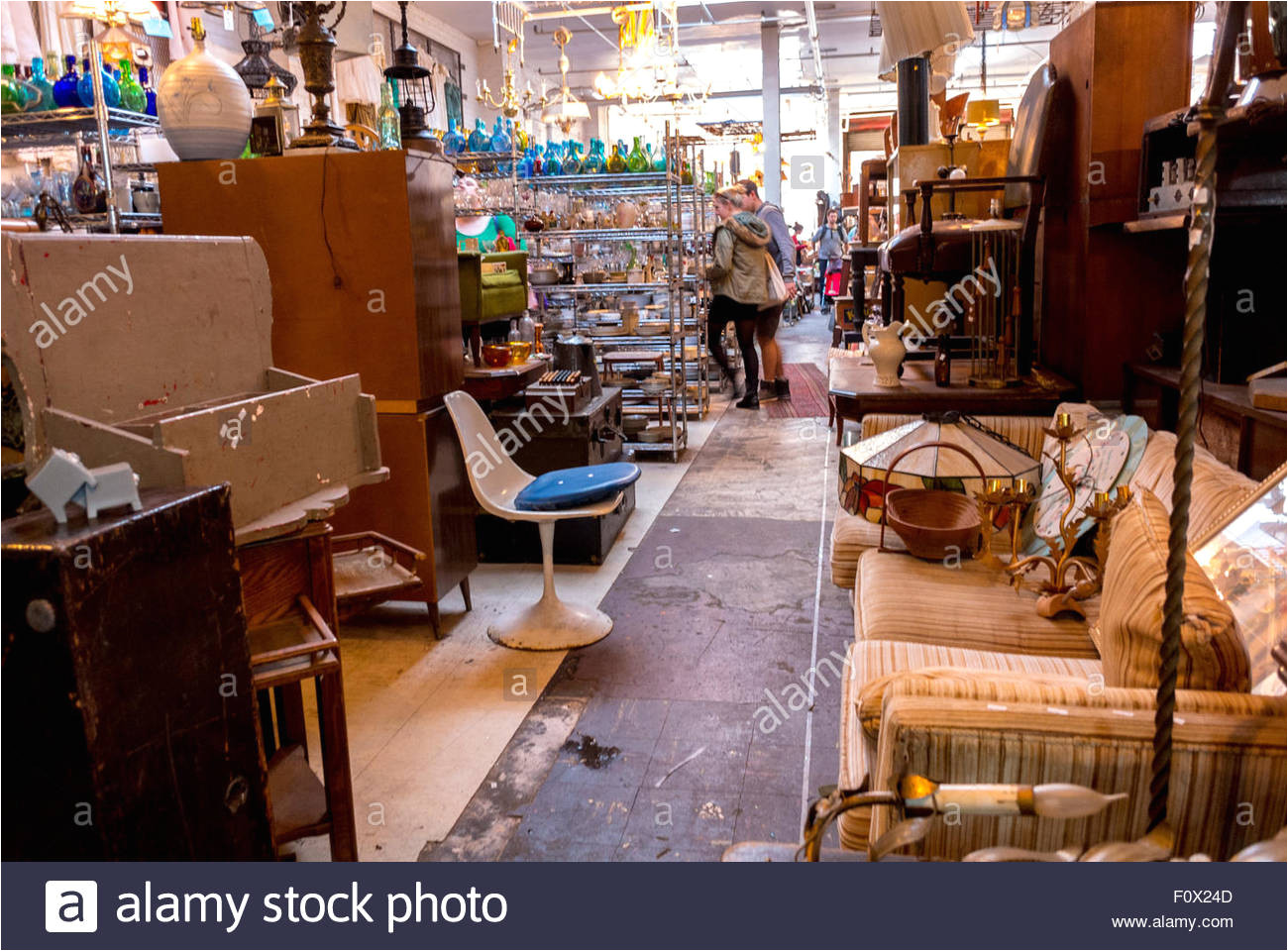 new york city usa inside shop in vintage store brooklyn district