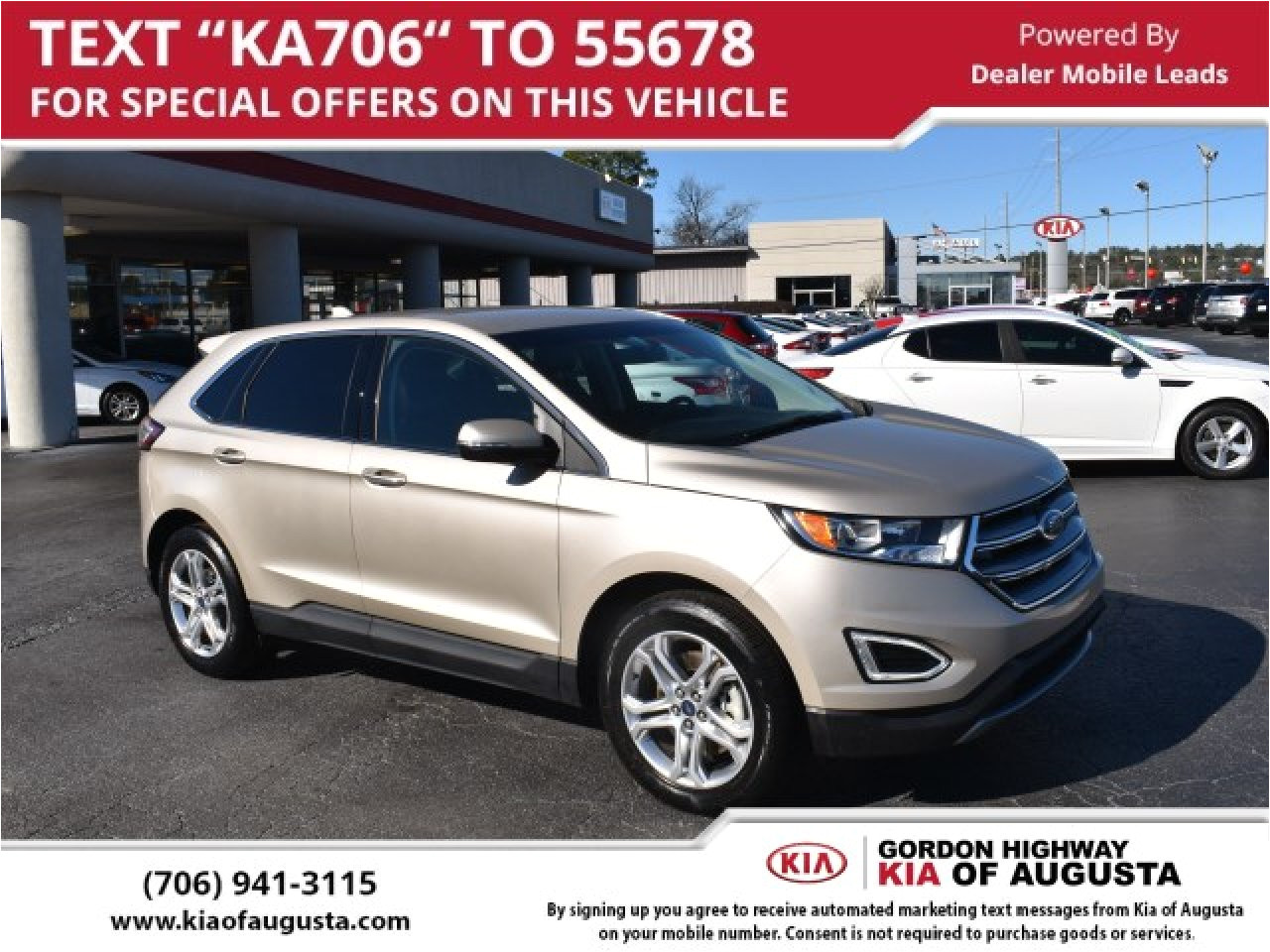 used 2018 ford edge in augusta ga