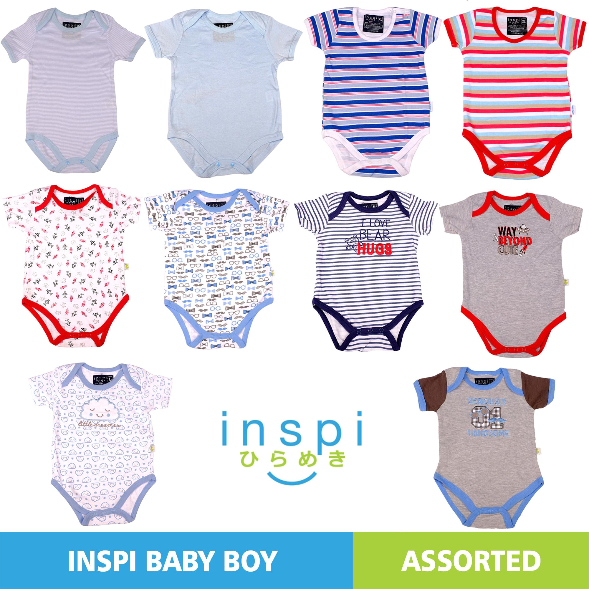 philippines inspi babies boys assorted set of 2 100 cotton onesies newborn infant quality