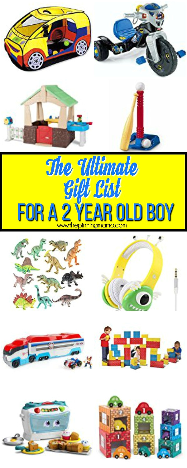 the best gift list for a 2 year old boy