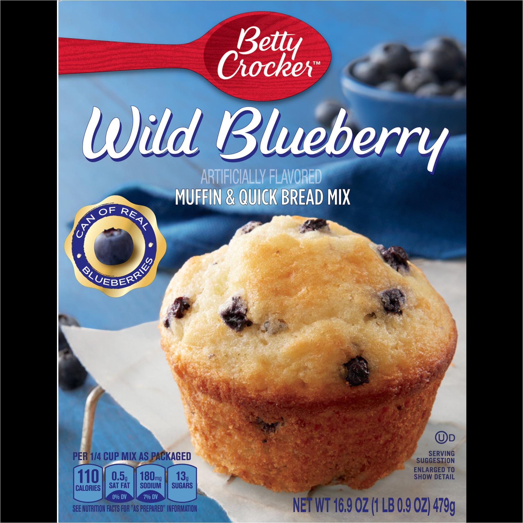 betty crocker wild blueberry muffin and quick bread mix 16 9 oz walmart com