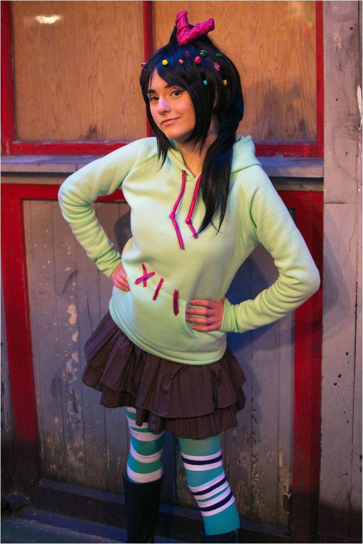 vanellope von schweetz the glitch cosplay from wreck it ralph costume for girls diy