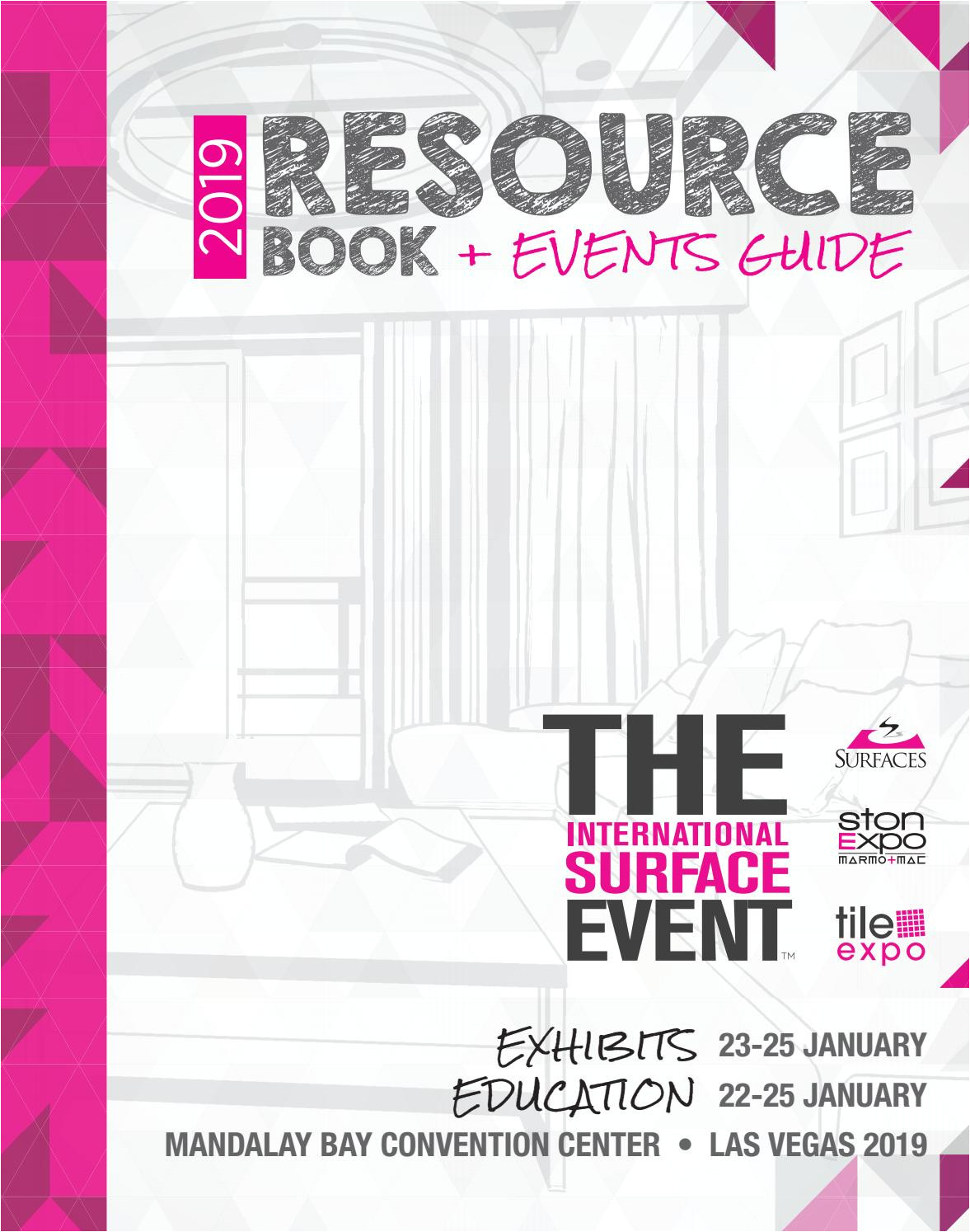 Granquartz Stone Care Systems Tise 2019 Resource Book events Guide by Informa Architecture