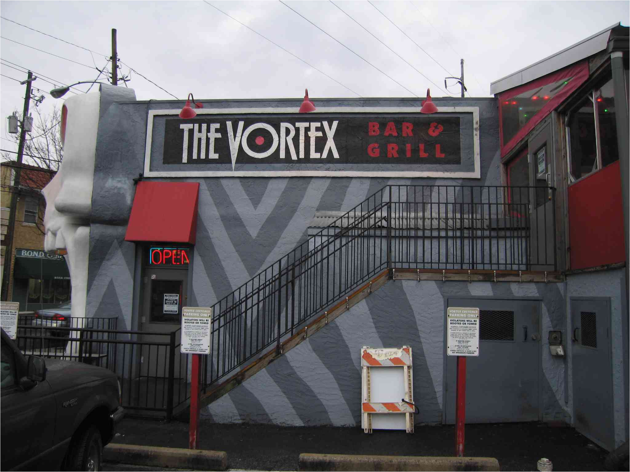 vortex bar grill atlanta restaurant mixed bar exterior