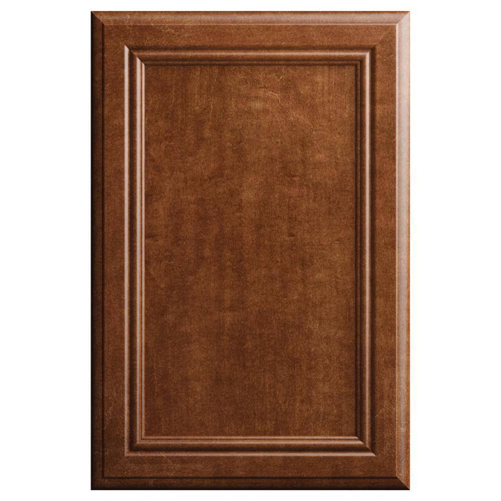 hampton bay designer series 11x15 in sprewell cabinet door sample in paprika