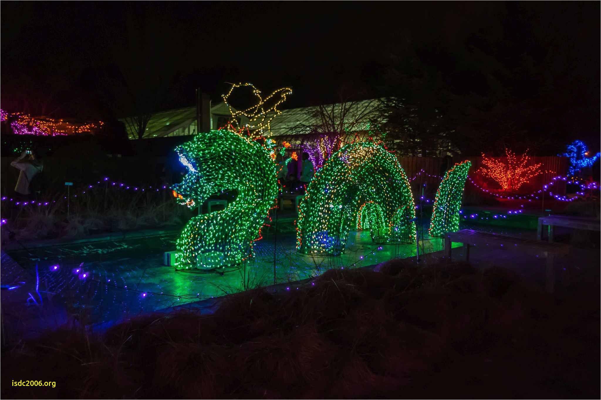 Holiday Light Show atlanta Botanical Gardens New Botanical Gardens Night Lights