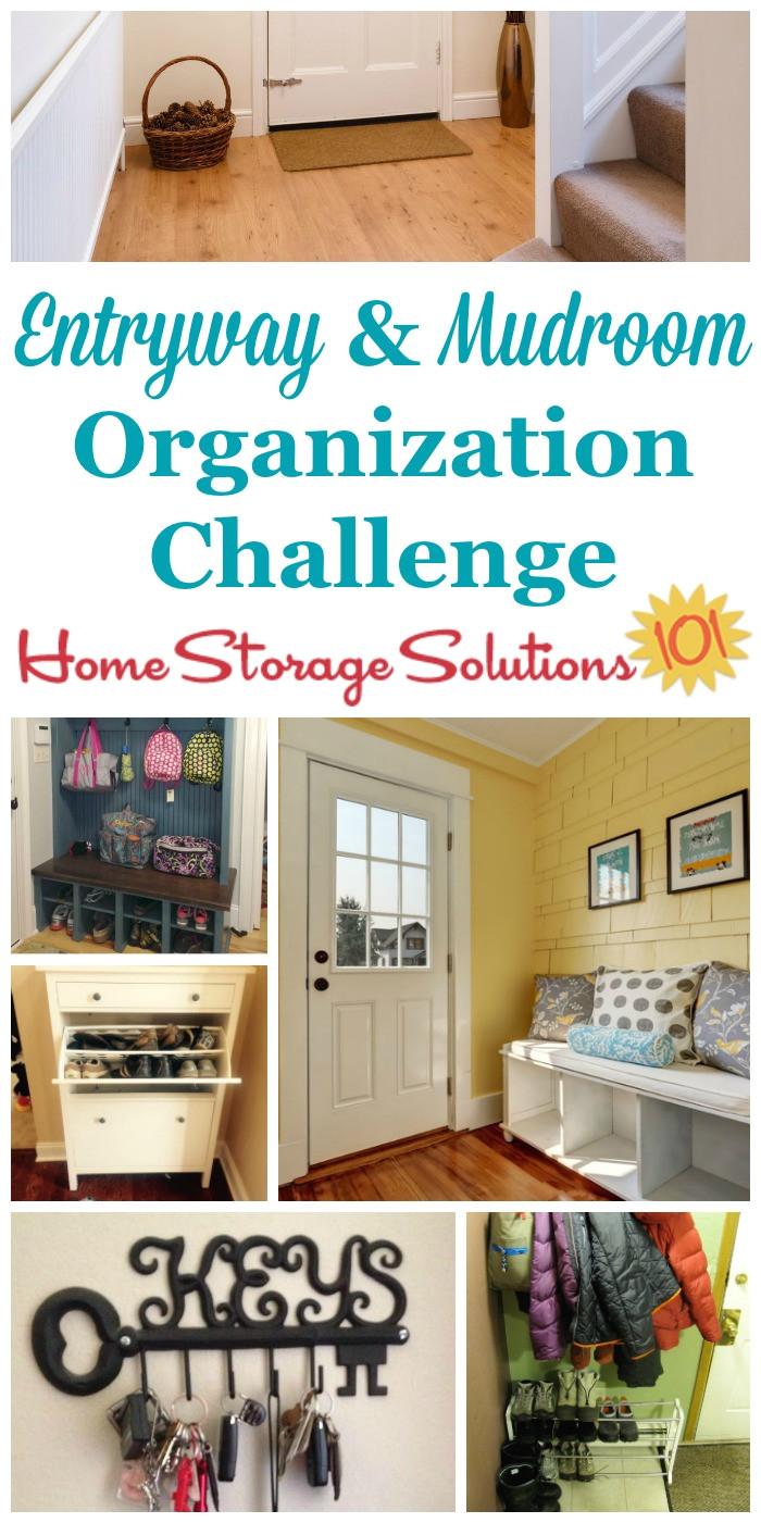 organize your entryway mudroom challenge