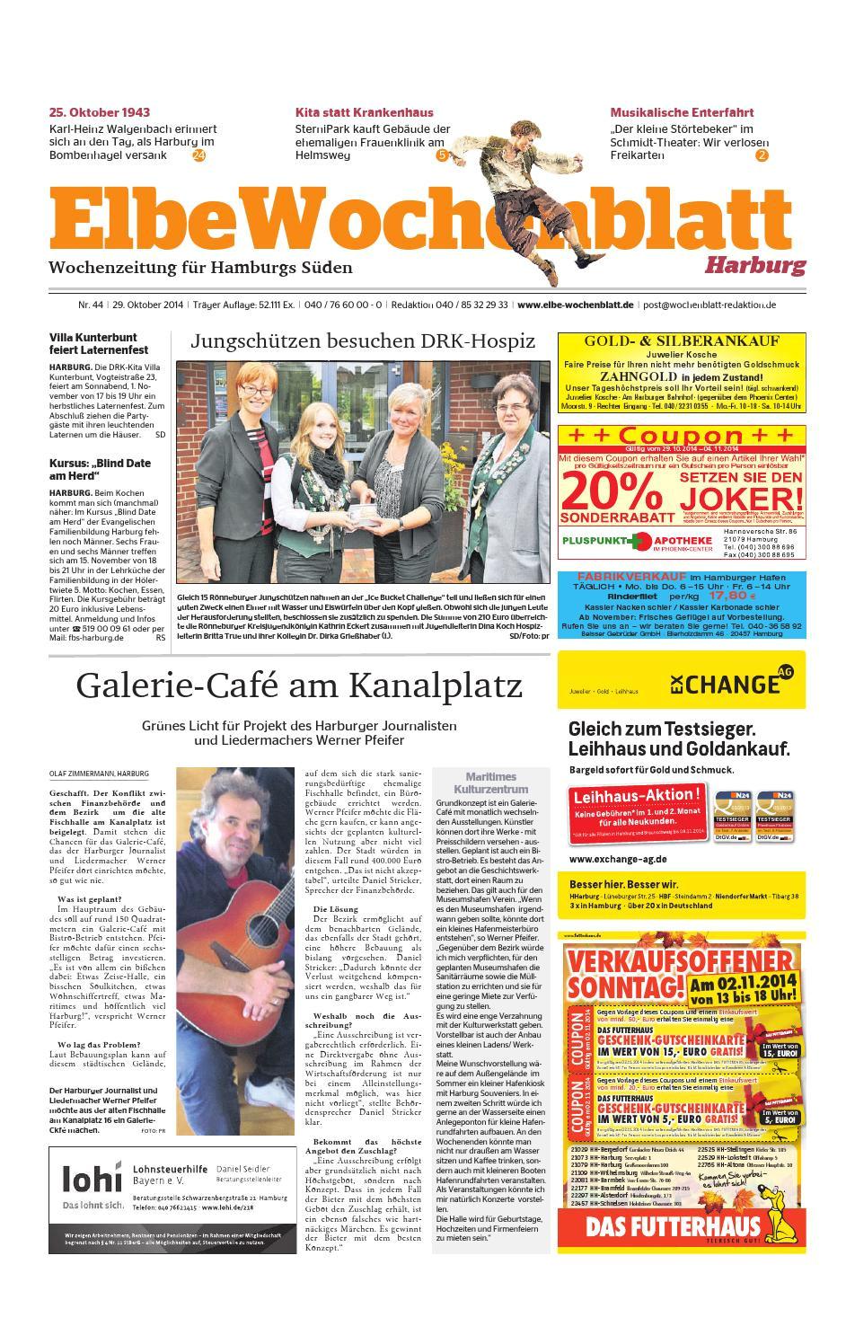 Honolulu Cookie Company Discount Coupon Harburg Kw44 2014 by Elbe Wochenblatt Verlagsgesellschaft Mbh Co