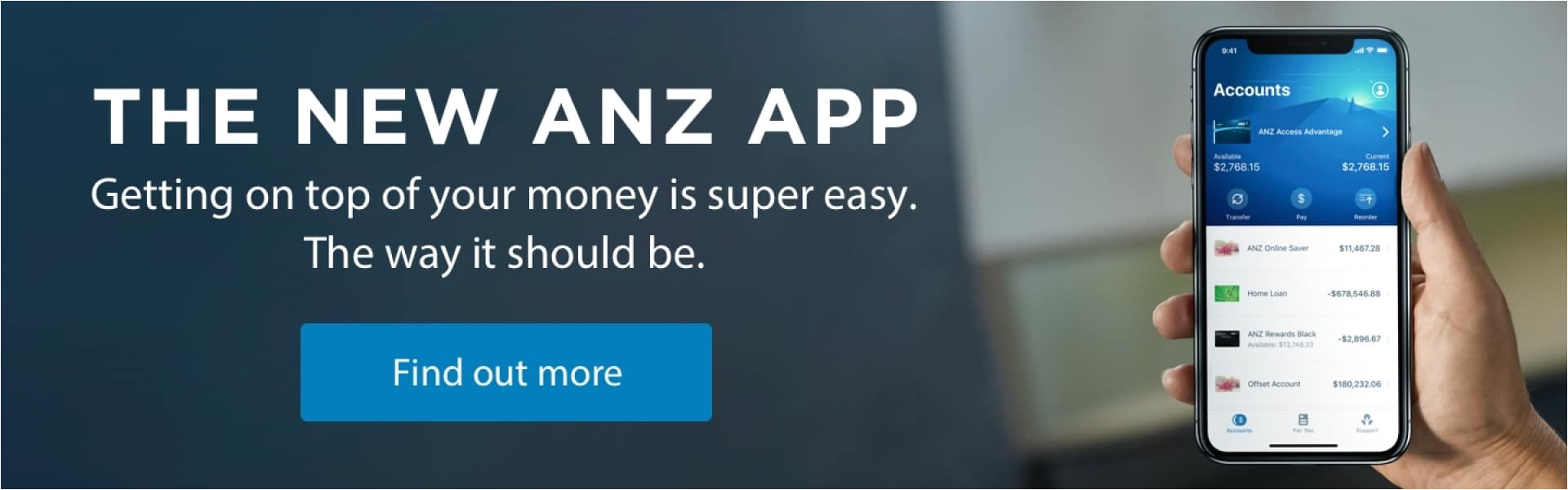 new to anz internet banking