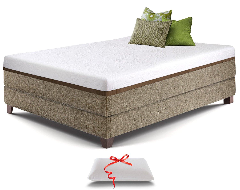 amazon com live sleep ultra queen mattress gel memory foam mattress 12 inch cool bed in a box medium firm advanced support bonus luxury pillow