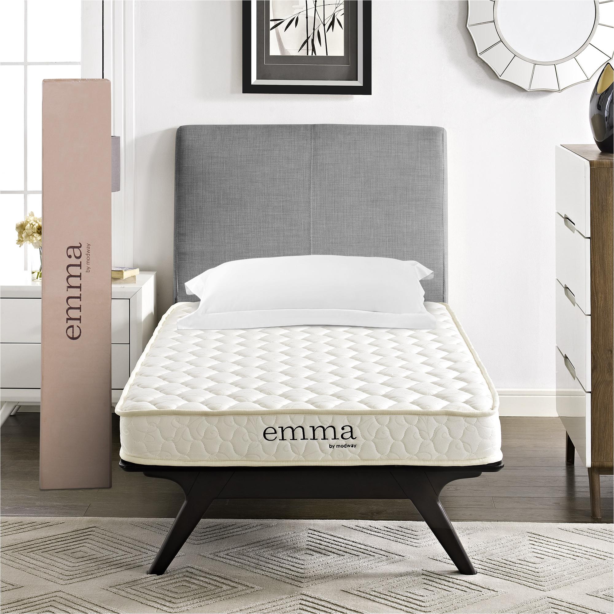 modway emma 6 two layer memory foam mattress multiple sizes walmart com