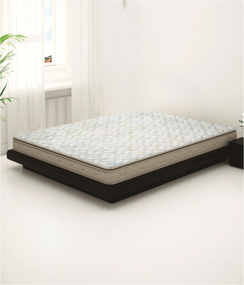 sleepwell impression majesty double soft memory foam mattress 78x72x8 inches