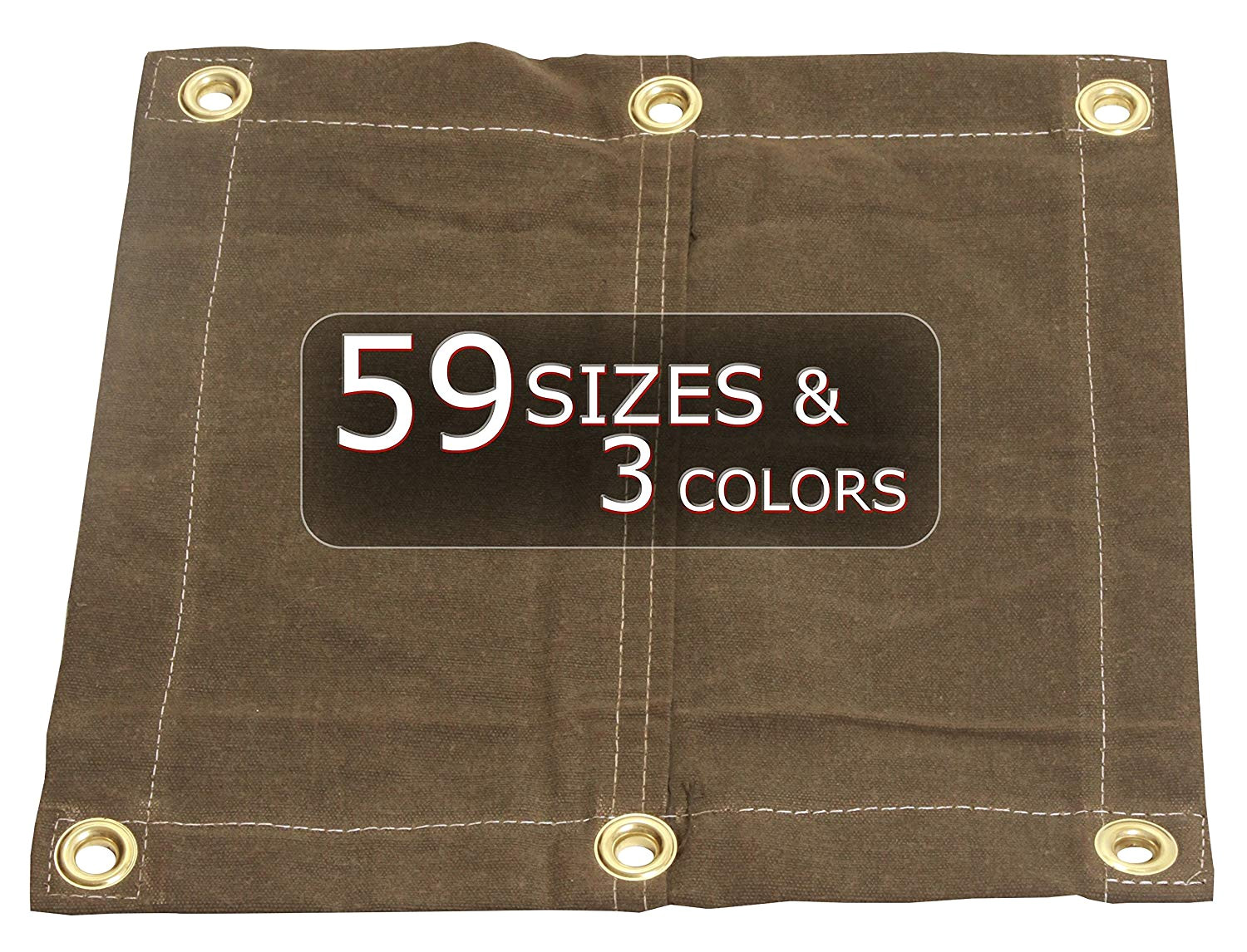 5x7 18oz heavy duty canvas tarp with grommets od green water mold and mildew resistant amazon com