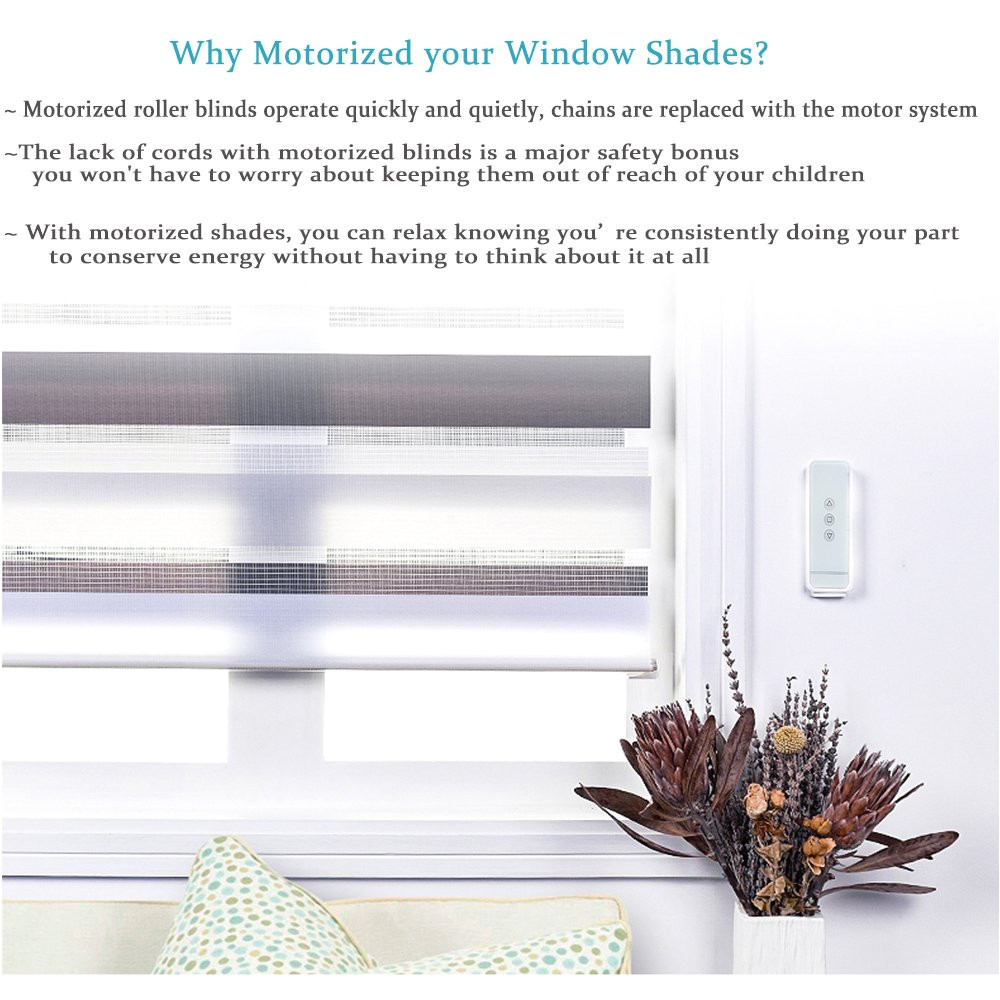 amazon com rollerhouse motorized shades and blinds for windows with remote control powered by aa 12v dc volt reloadable tube wand tubular motor kit home