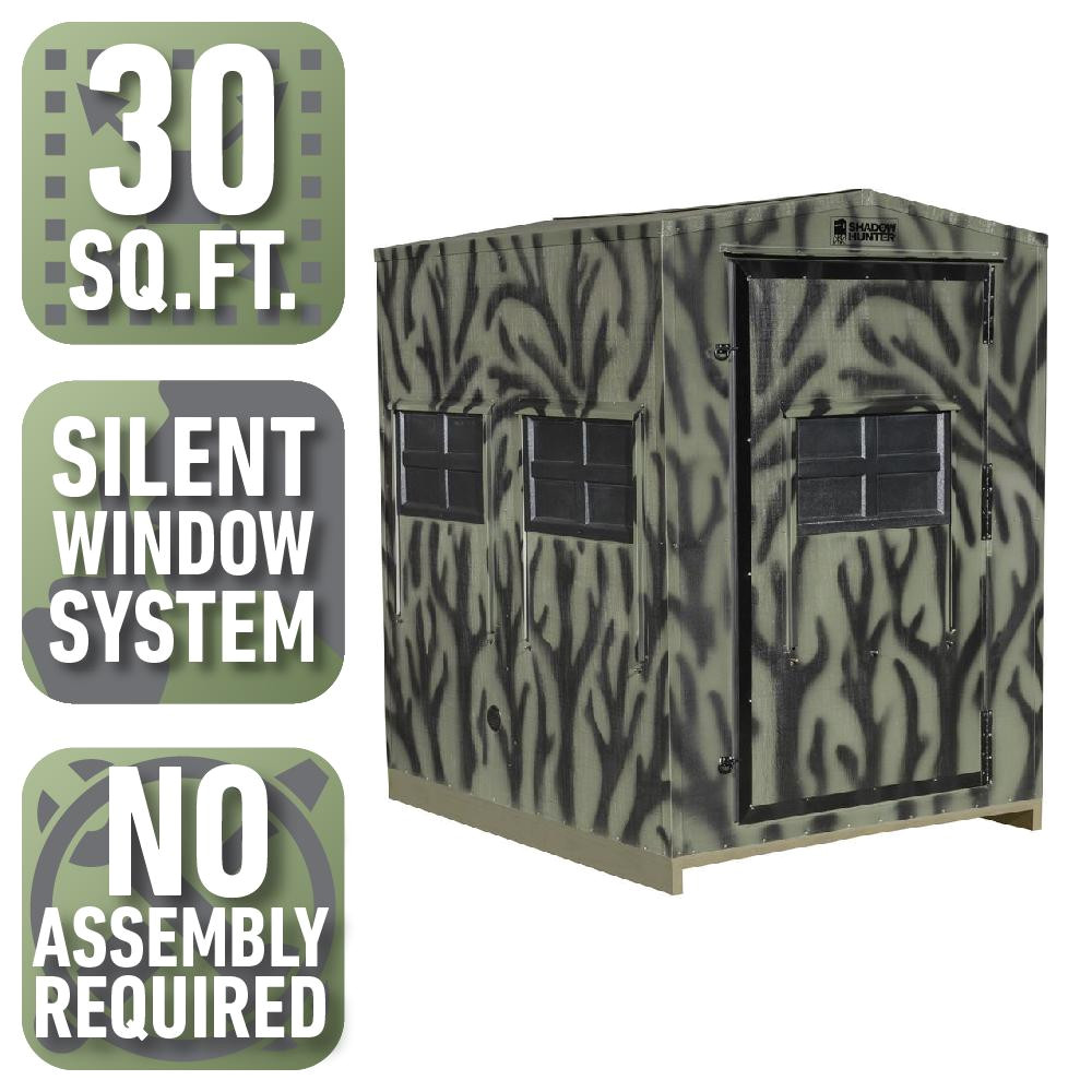 shadow hunter 5 ft x 6 ft insulated gun and crossbow hunting blind