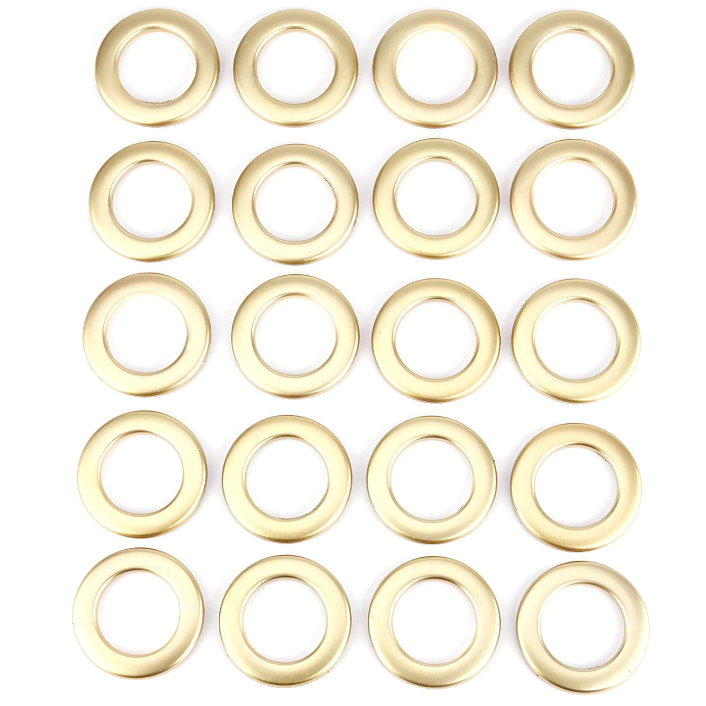 surepromise 20 pcs round shape plastic ring for eyelet curtain blinds drapery circle slide rings clips grommets low noise matt gold amazon co uk kitchen