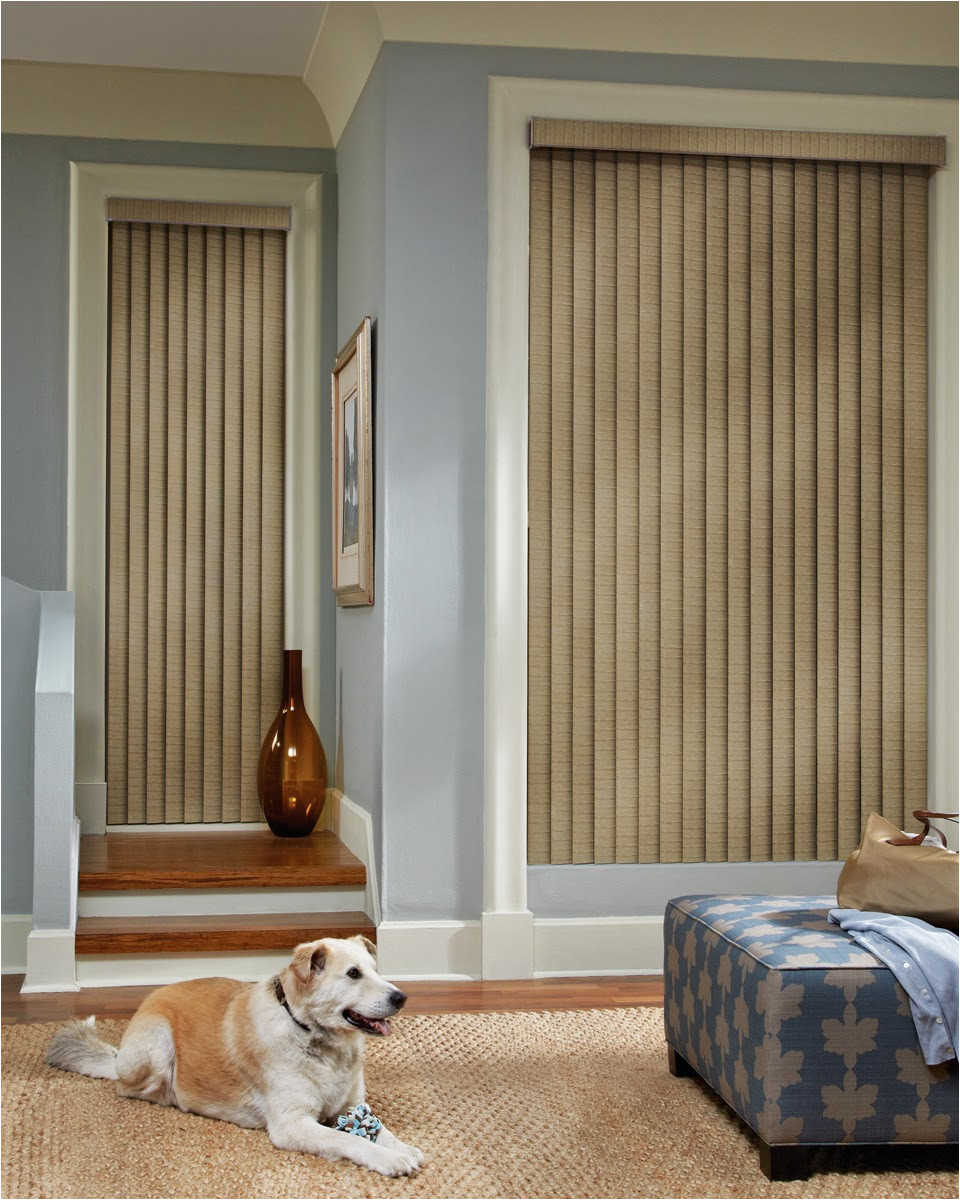 graber vertical blinds are perfect for patio doors and large windows selecting a bold color or pairing the existing decor will surely make a statement