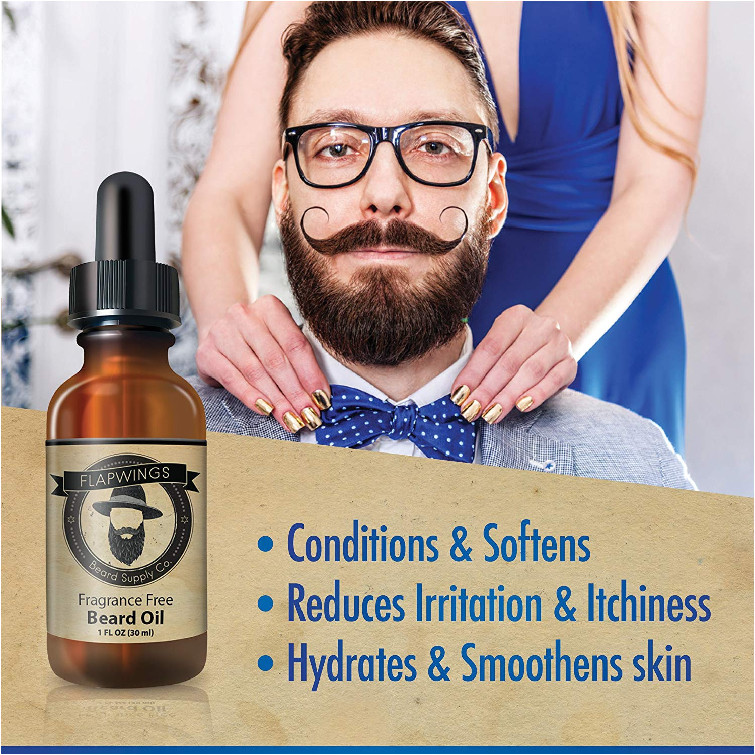 amazon com flapwings beard oil leave in conditioner softener and moisturizer for men 100 pure natural premium unscented mustache and goatee growth oil
