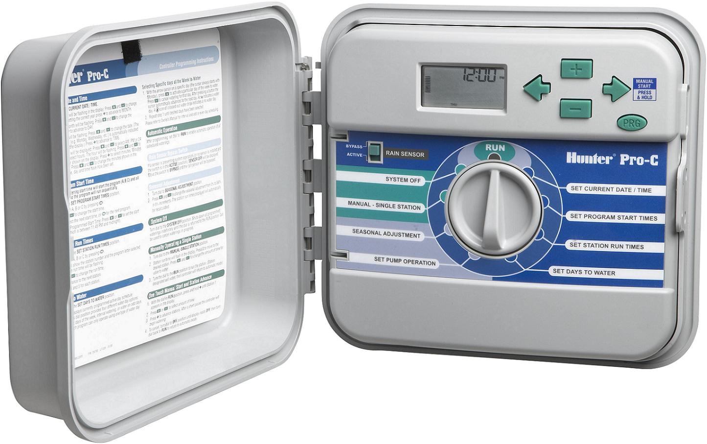 Hunter Pro C Sprinkler Controller Manual Valve Box Large Rectangle Heavy Duty Complete Vblrehdc Bidgee