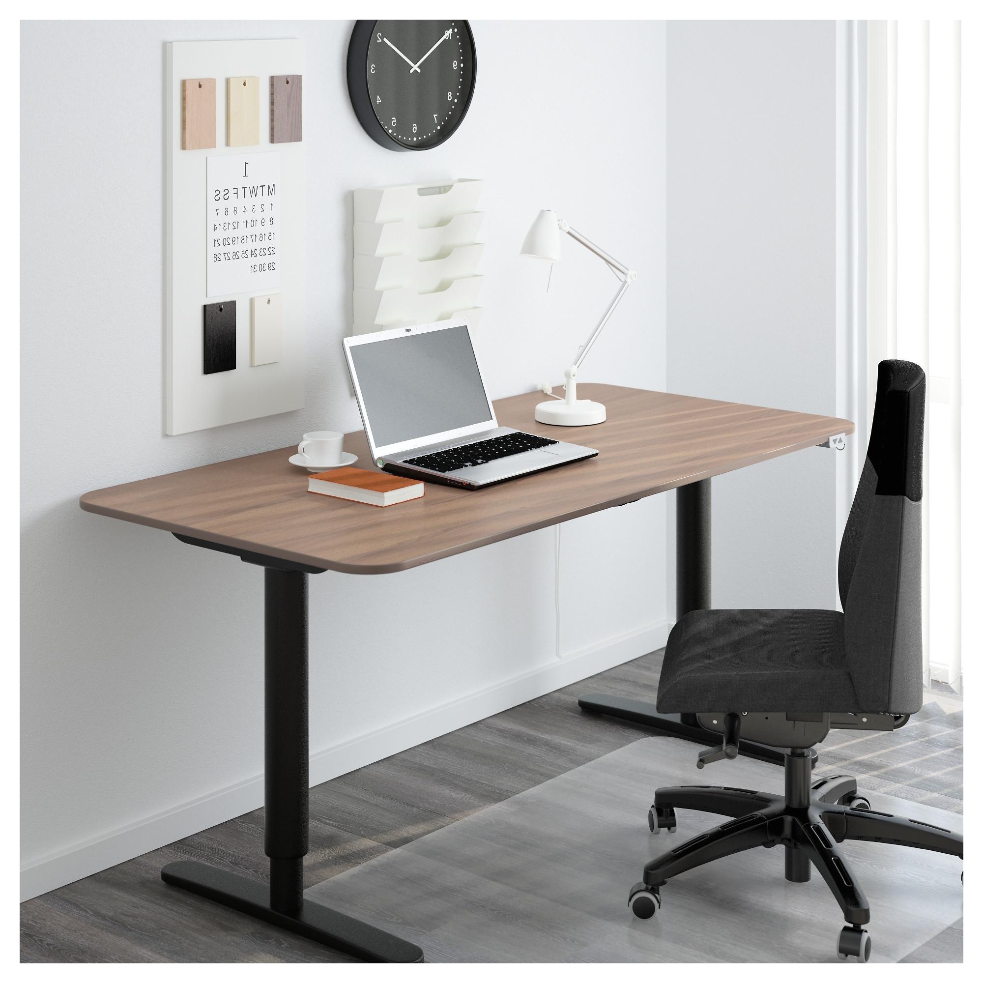 trendy ikea galant computer desks intended for bekant desk sit stand black brown