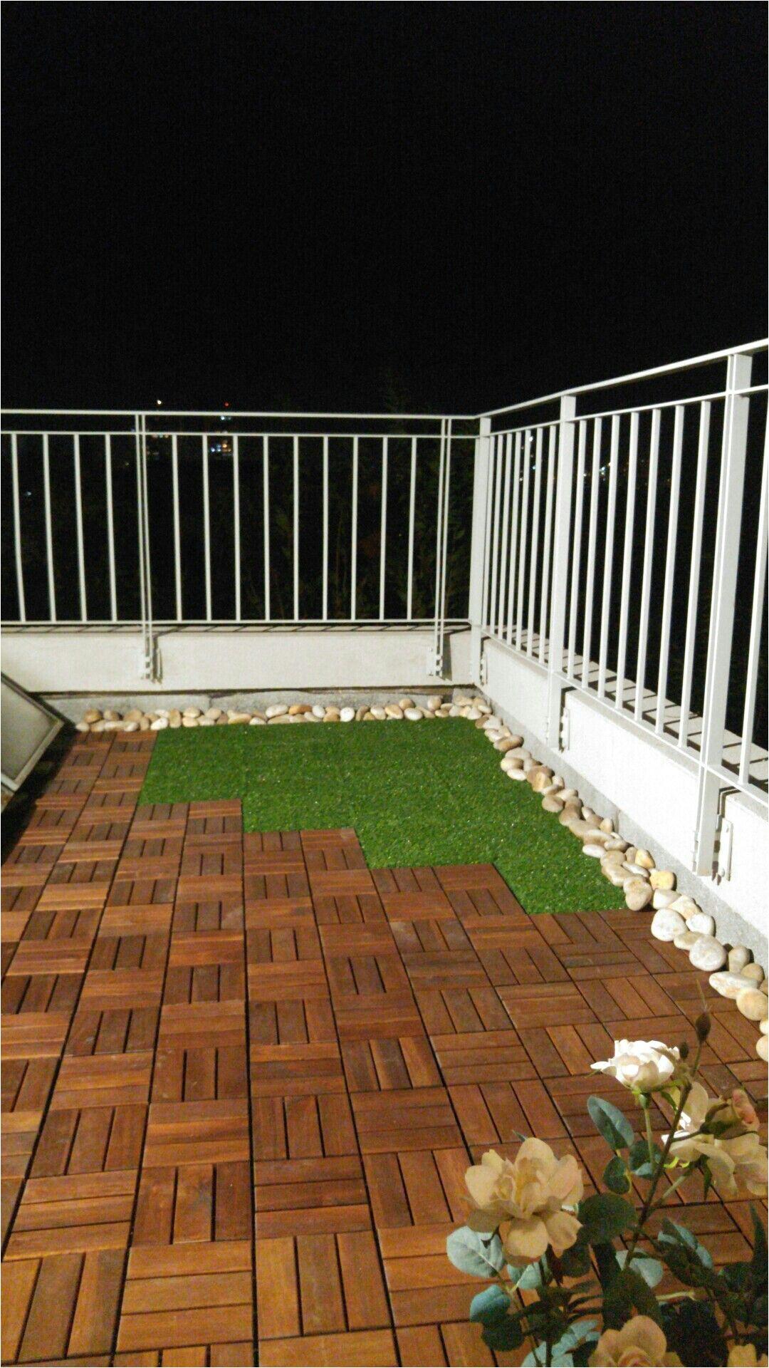 ikea runnen grass and wood flooring