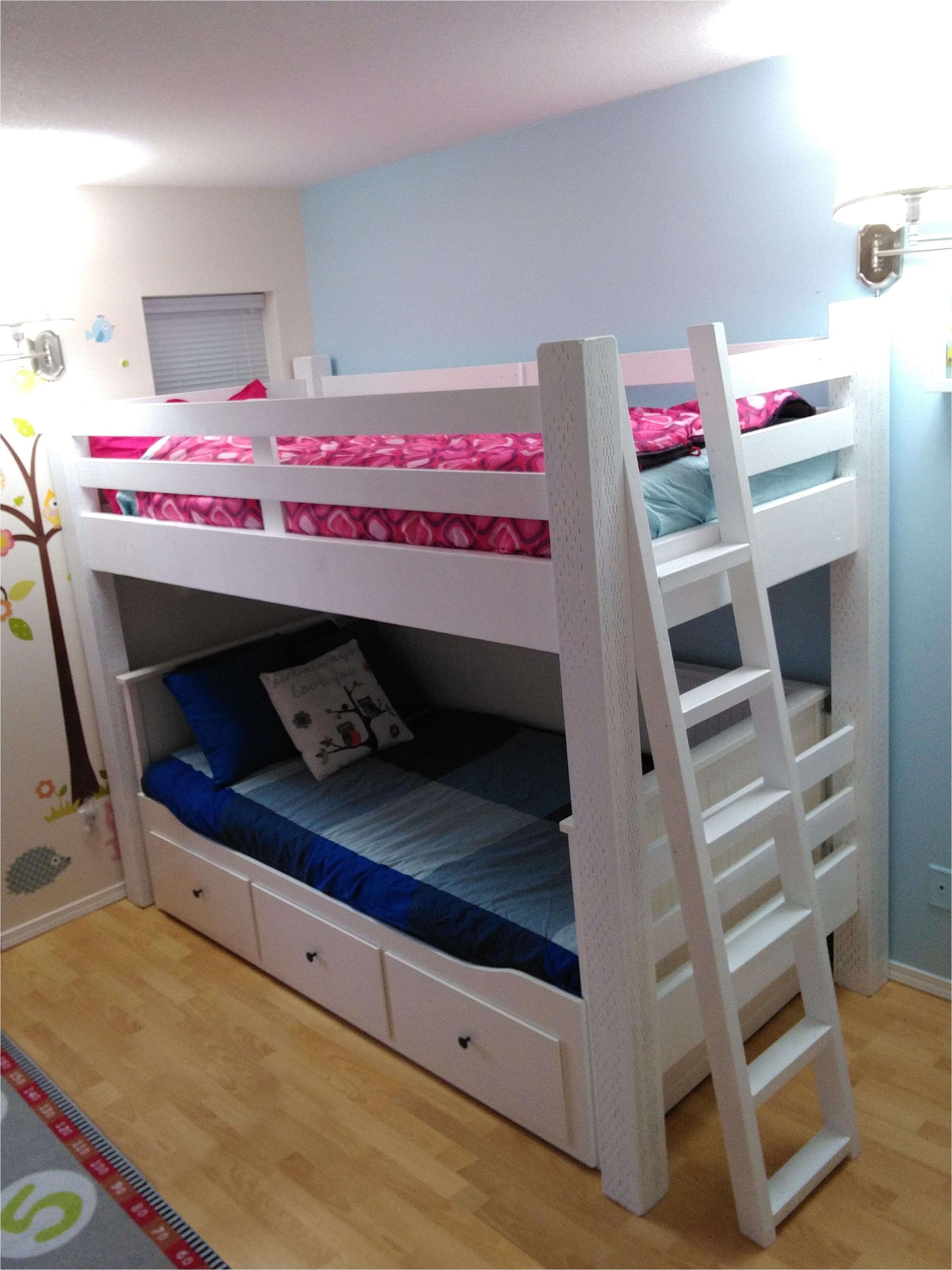 custom loft bed built to wrap the ikea hemnes daybed