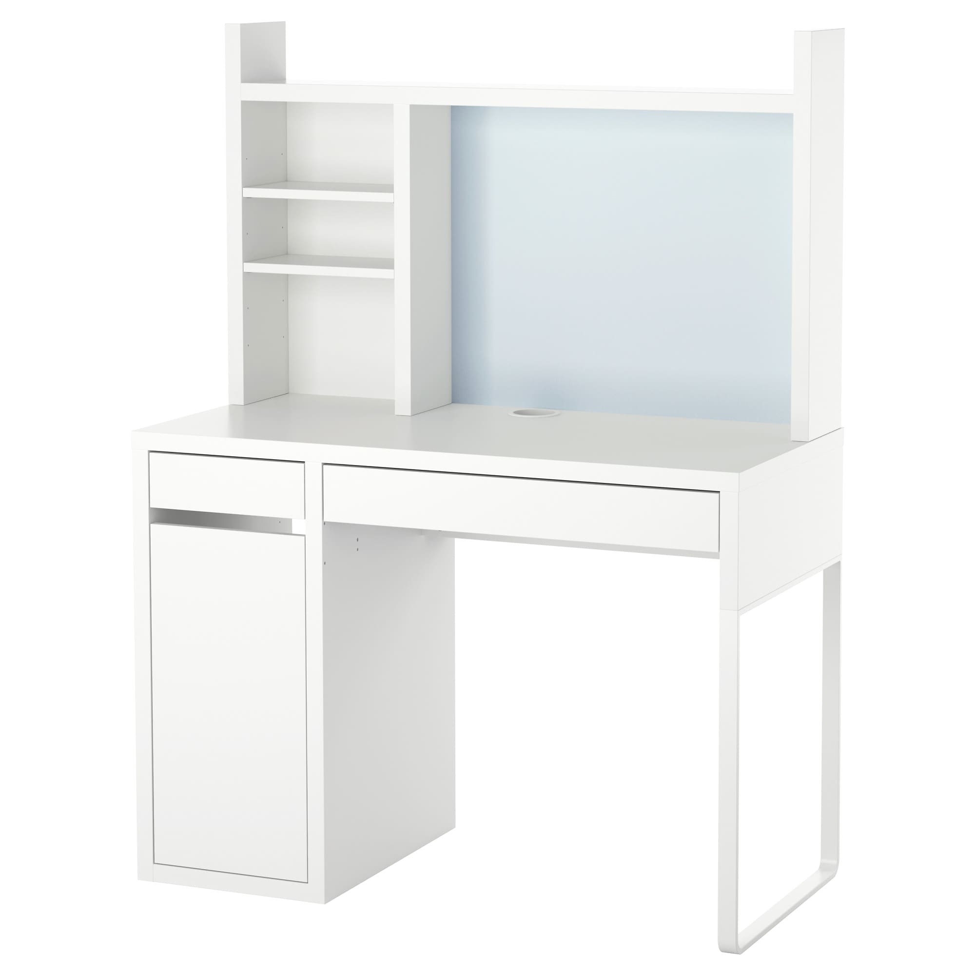 ikea micke workstation drawer stops prevent the drawers from being pulled out too far