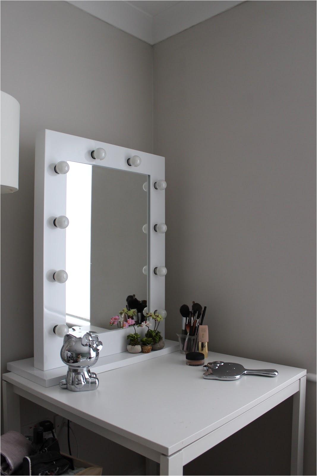 inspirational lighted makeup mirror